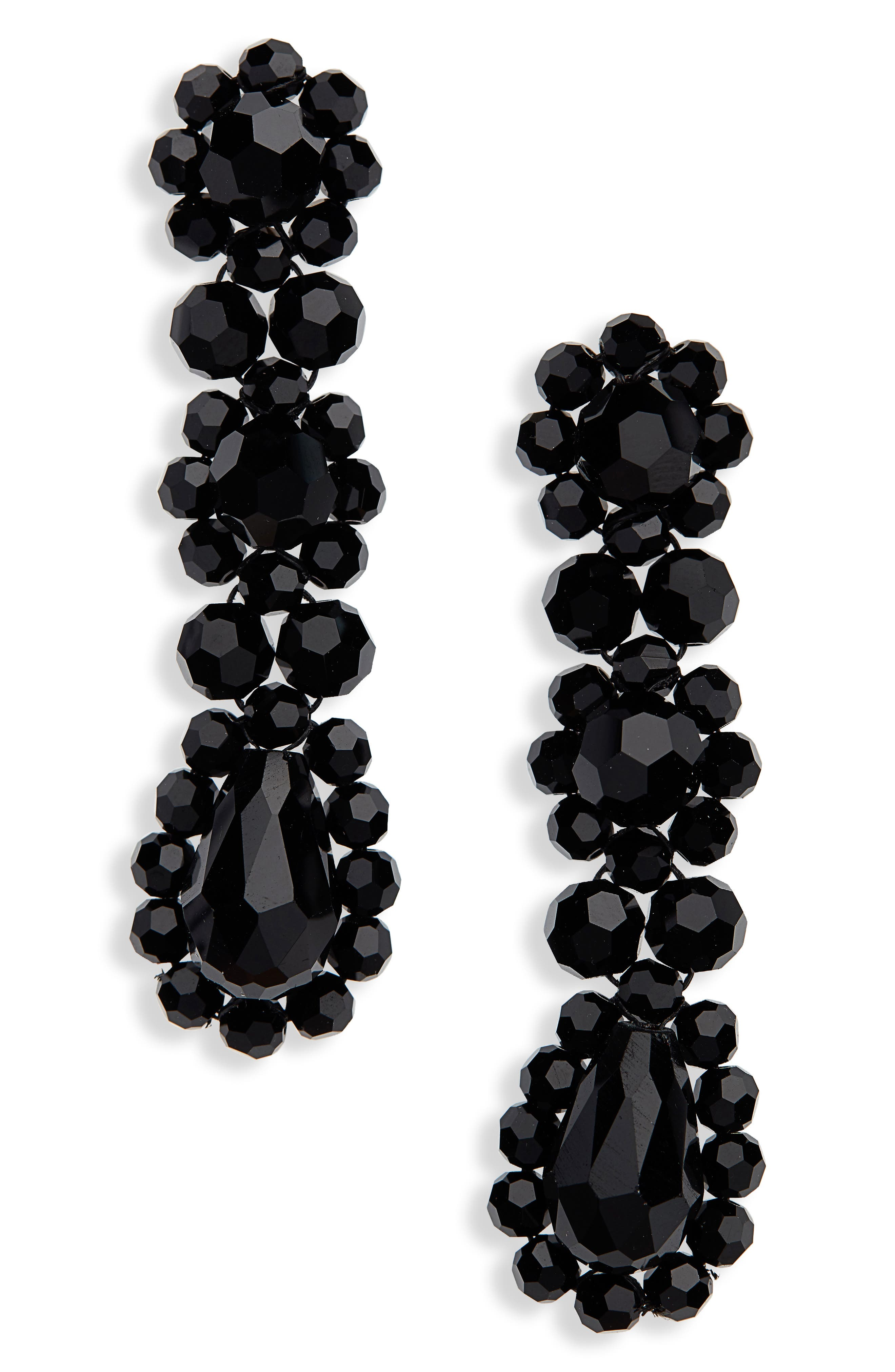 Triple Drop Earrings,                         Main,                         color, 001
