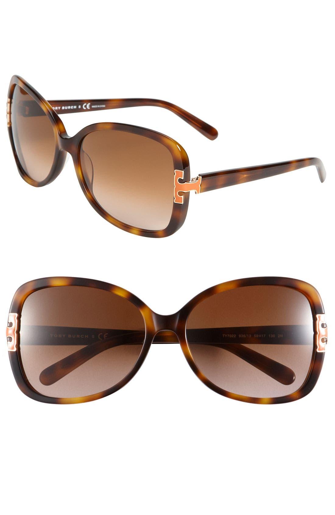 59mm Oversized Sunglasses,                             Main thumbnail 1, color,                             200