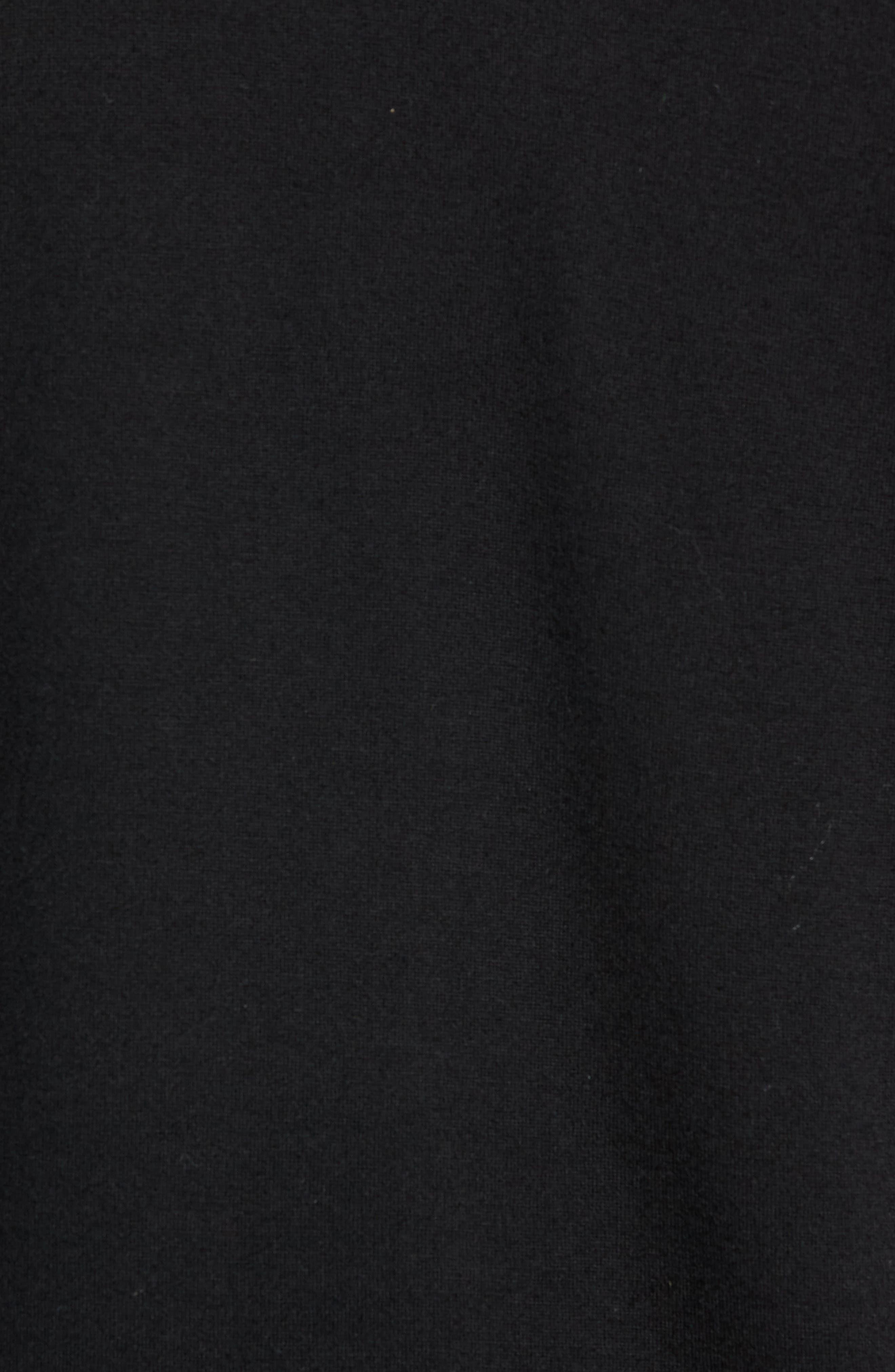 Swedish Merino Wool Trail Shirt,                             Alternate thumbnail 5, color,                             BLACK