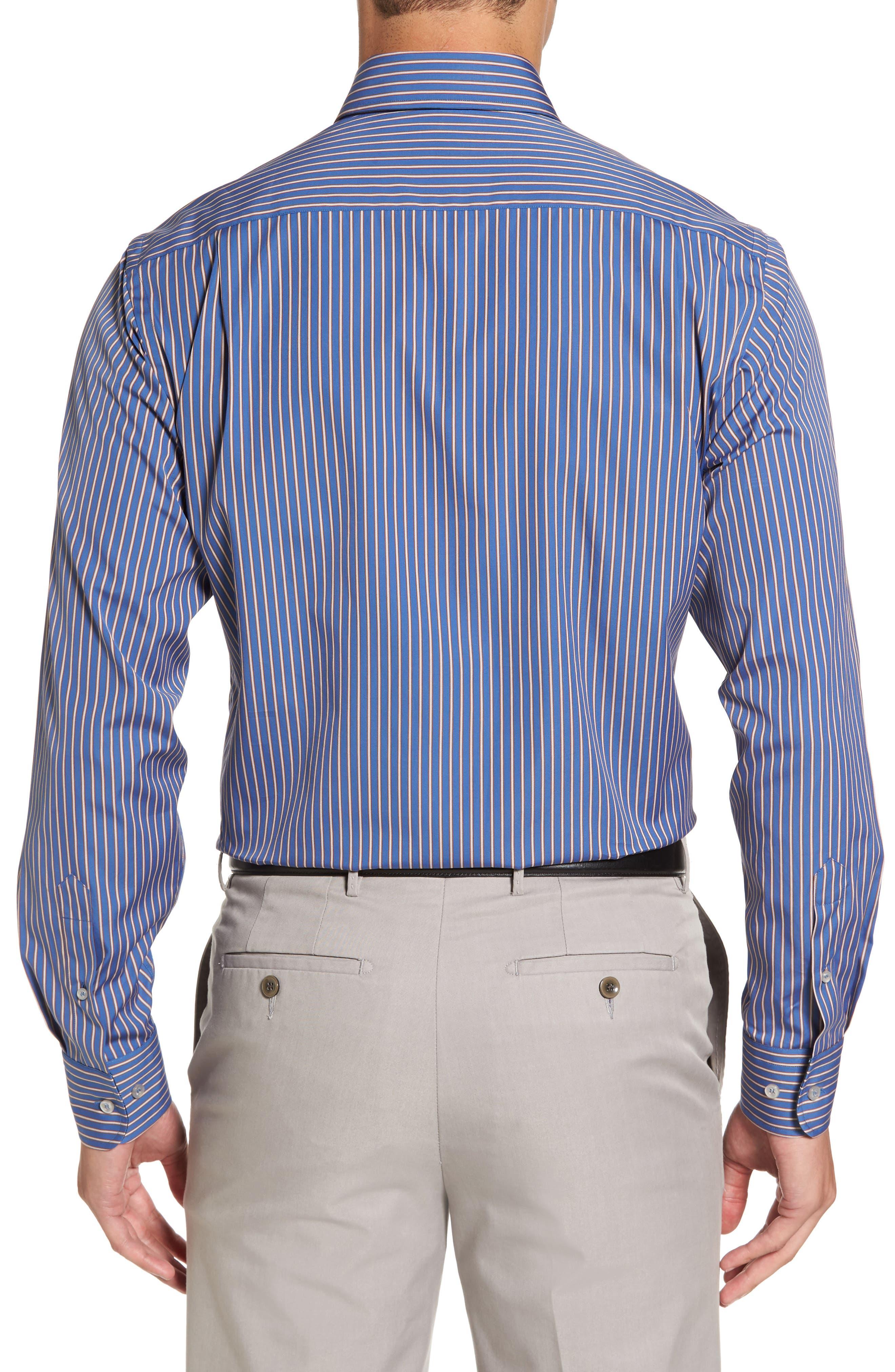 Paul&Shark Striped Sport Shirt,                             Alternate thumbnail 2, color,                             400