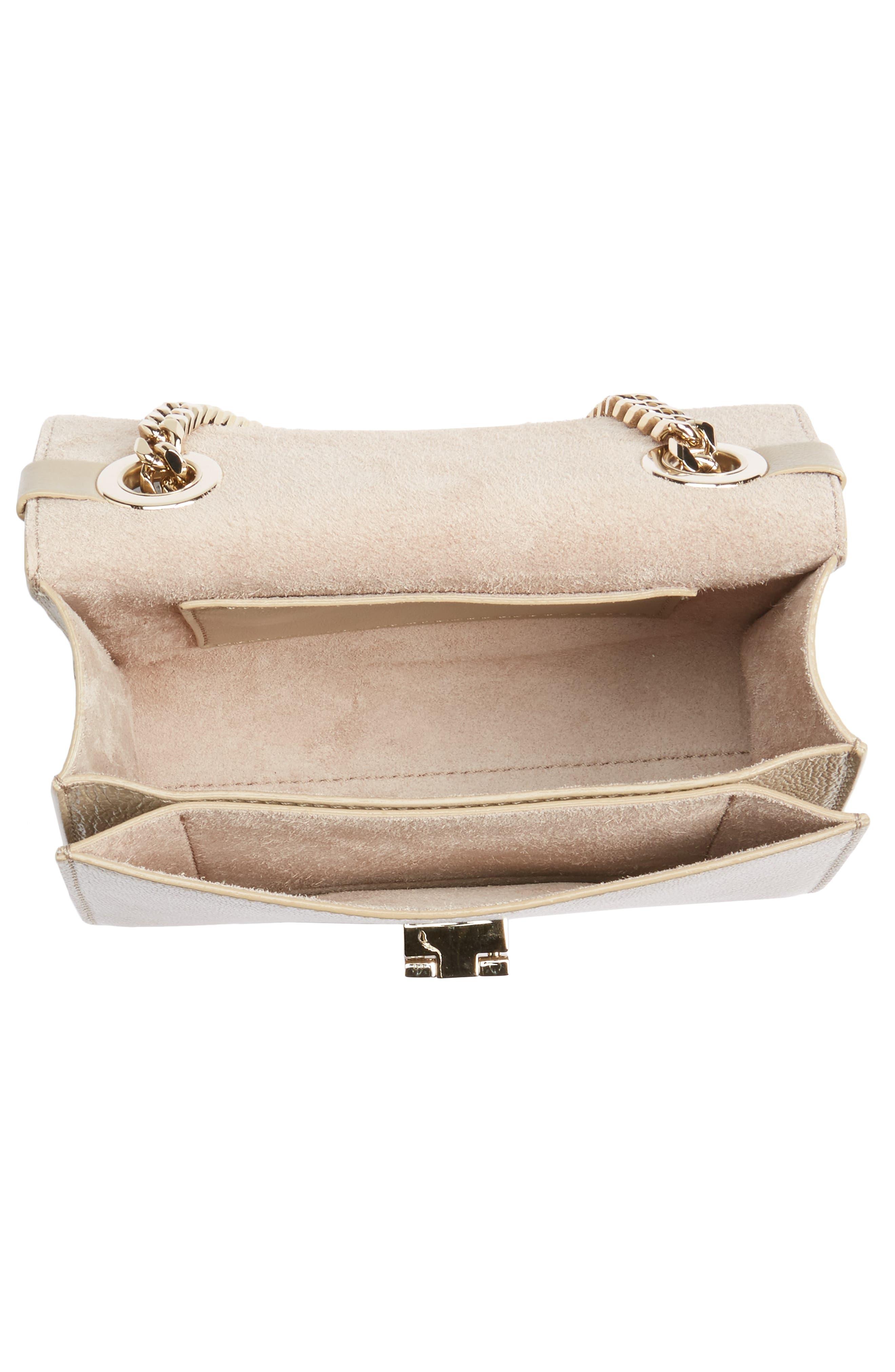 Mini Rebel Leather Crossbody Bag,                             Alternate thumbnail 4, color,                             201