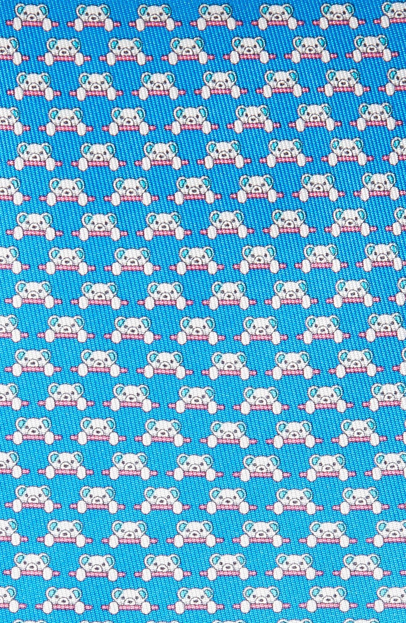 Dino Bear Print Silk Tie,                             Alternate thumbnail 2, color,                             494