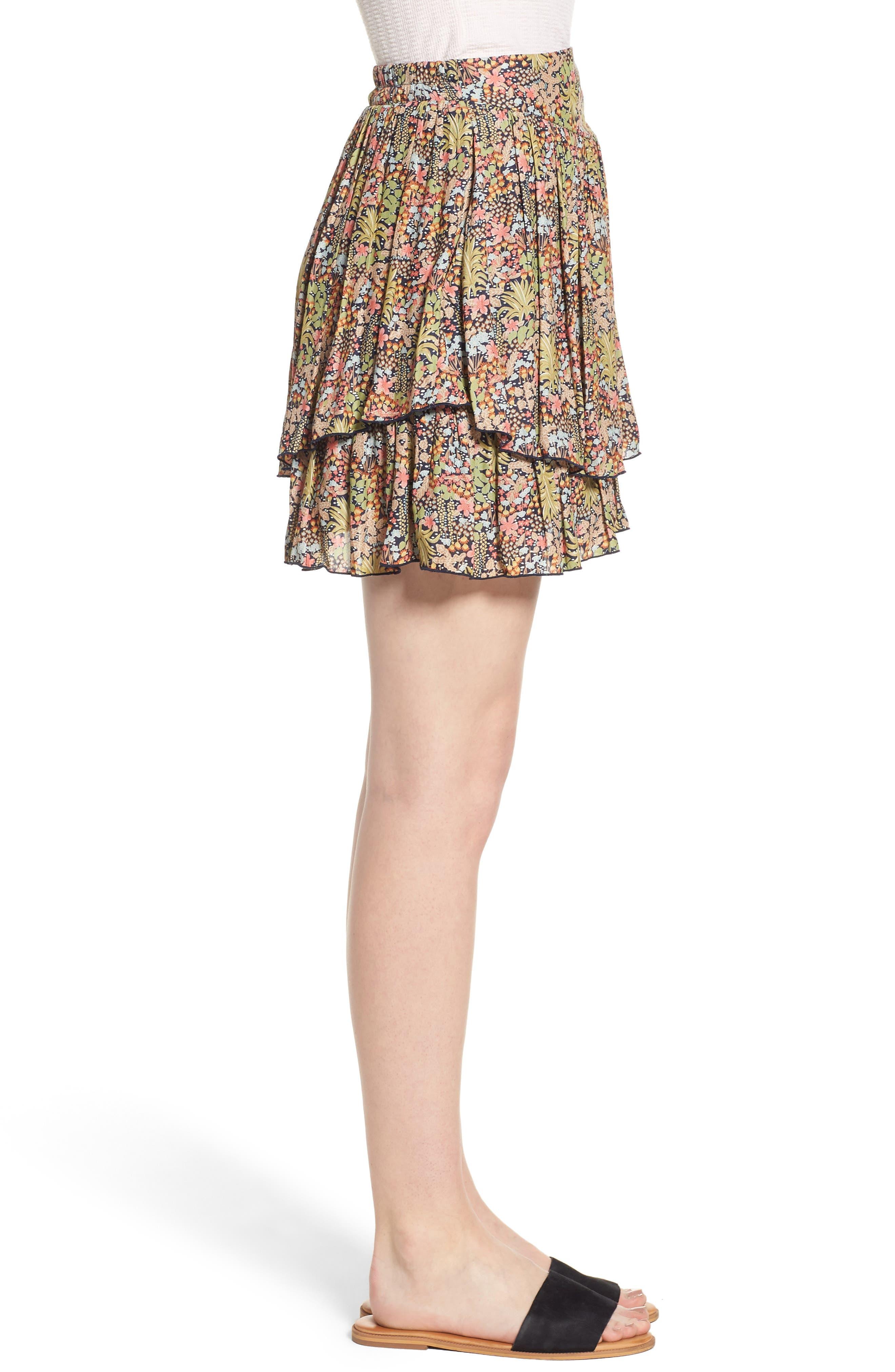 Double Layer Miniskirt,                             Alternate thumbnail 3, color,                             301
