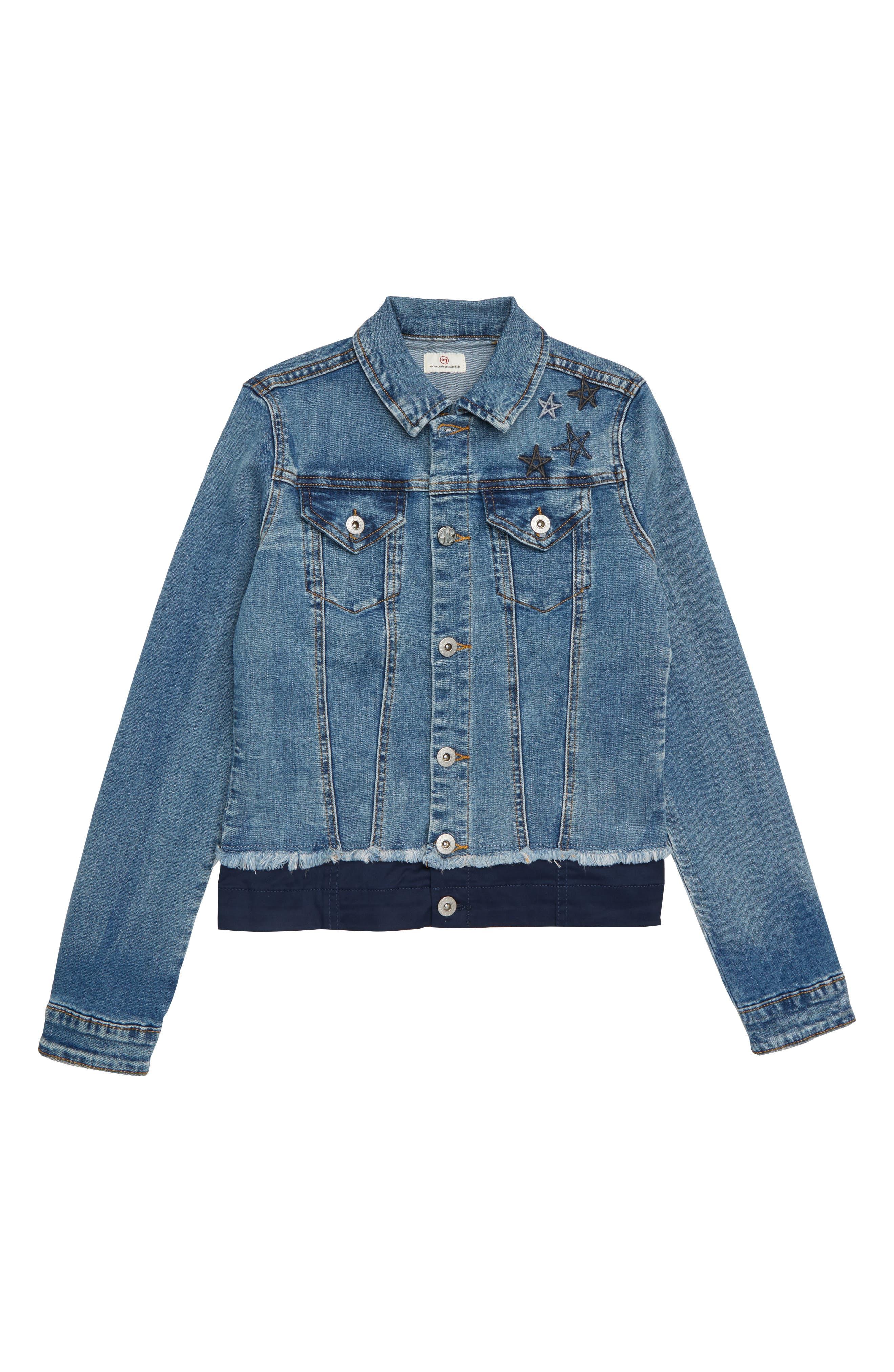 Georgia Denim Jacket,                         Main,                         color, 484