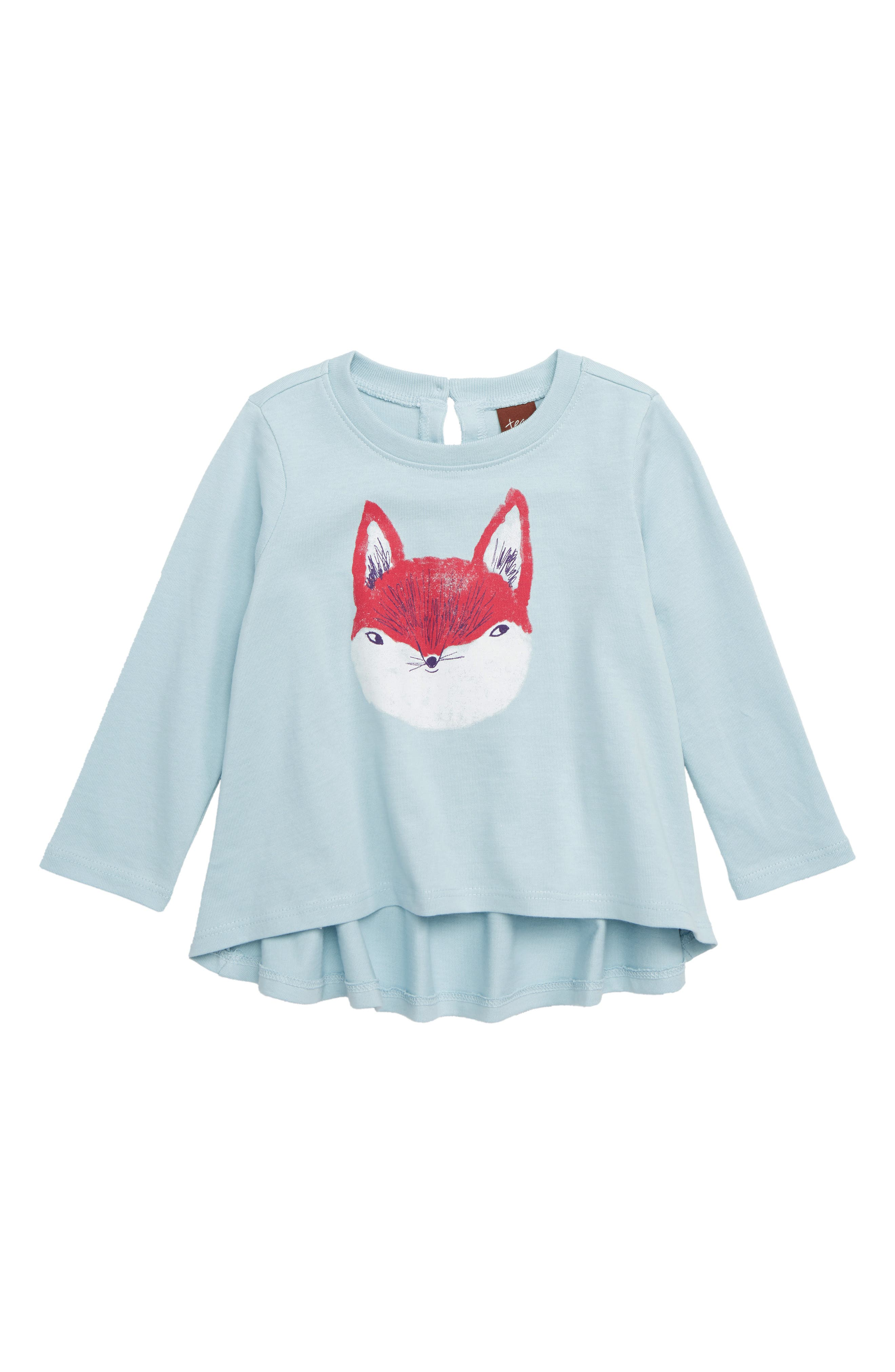 Friendly Fox Swing Top,                             Main thumbnail 1, color,                             STERLING BLUE