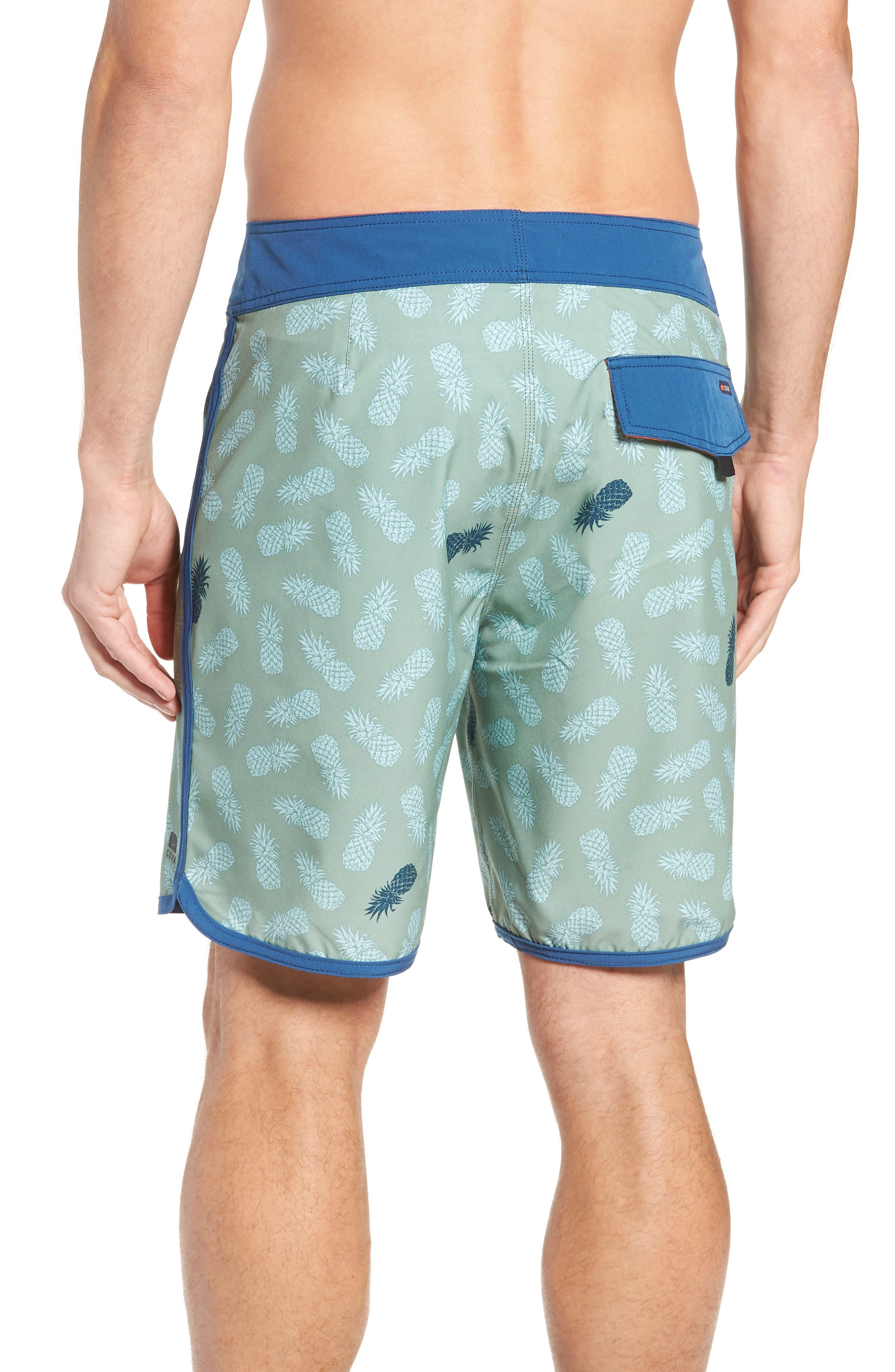 Colada Regular Fit Board Shorts,                             Alternate thumbnail 2, color,                             BASIL GREEN