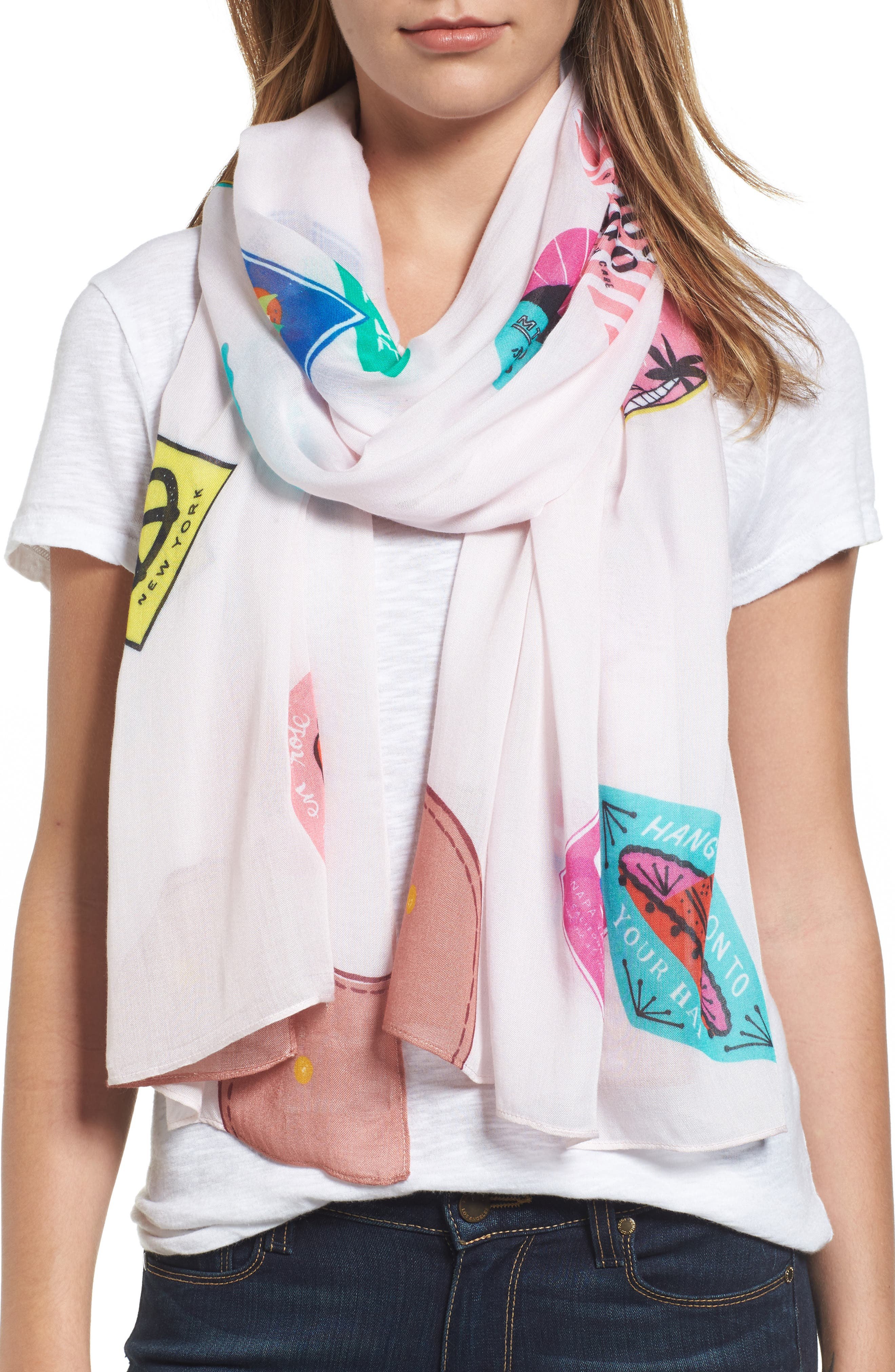 luggage oblong scarf,                             Main thumbnail 1, color,                             900