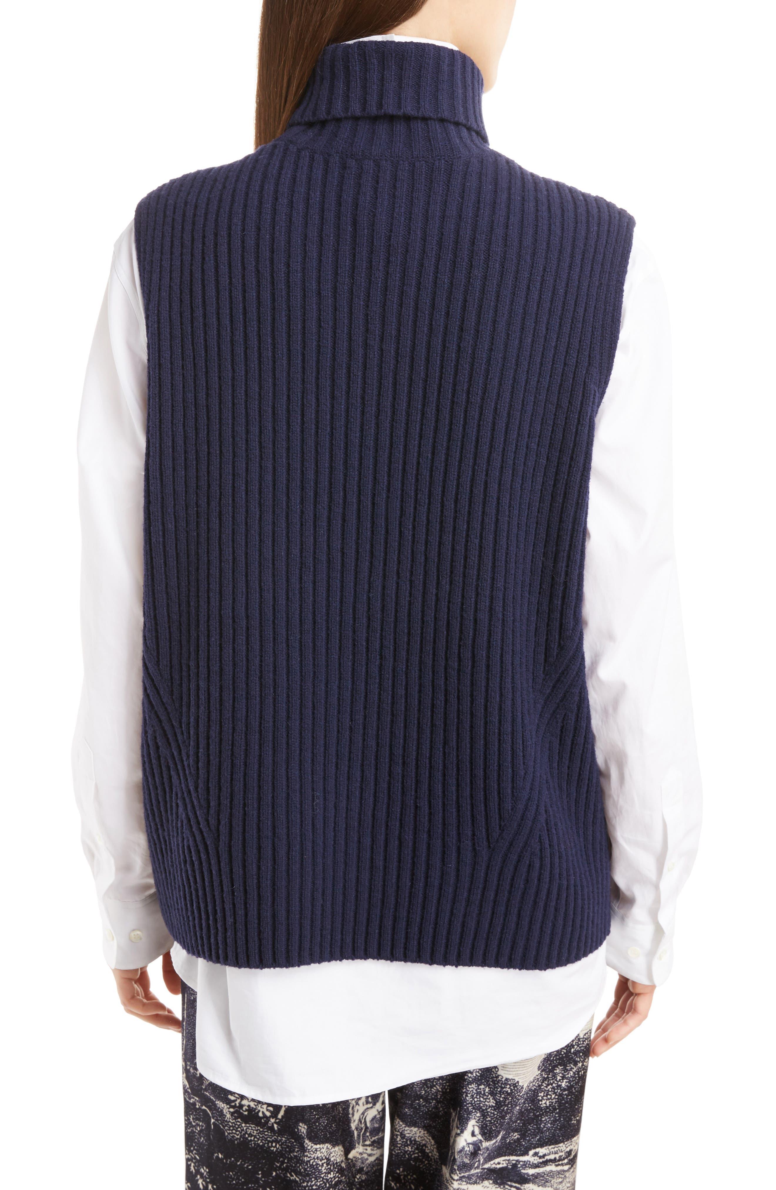 Sleeveless Turtleneck Sweater,                             Alternate thumbnail 2, color,                             410