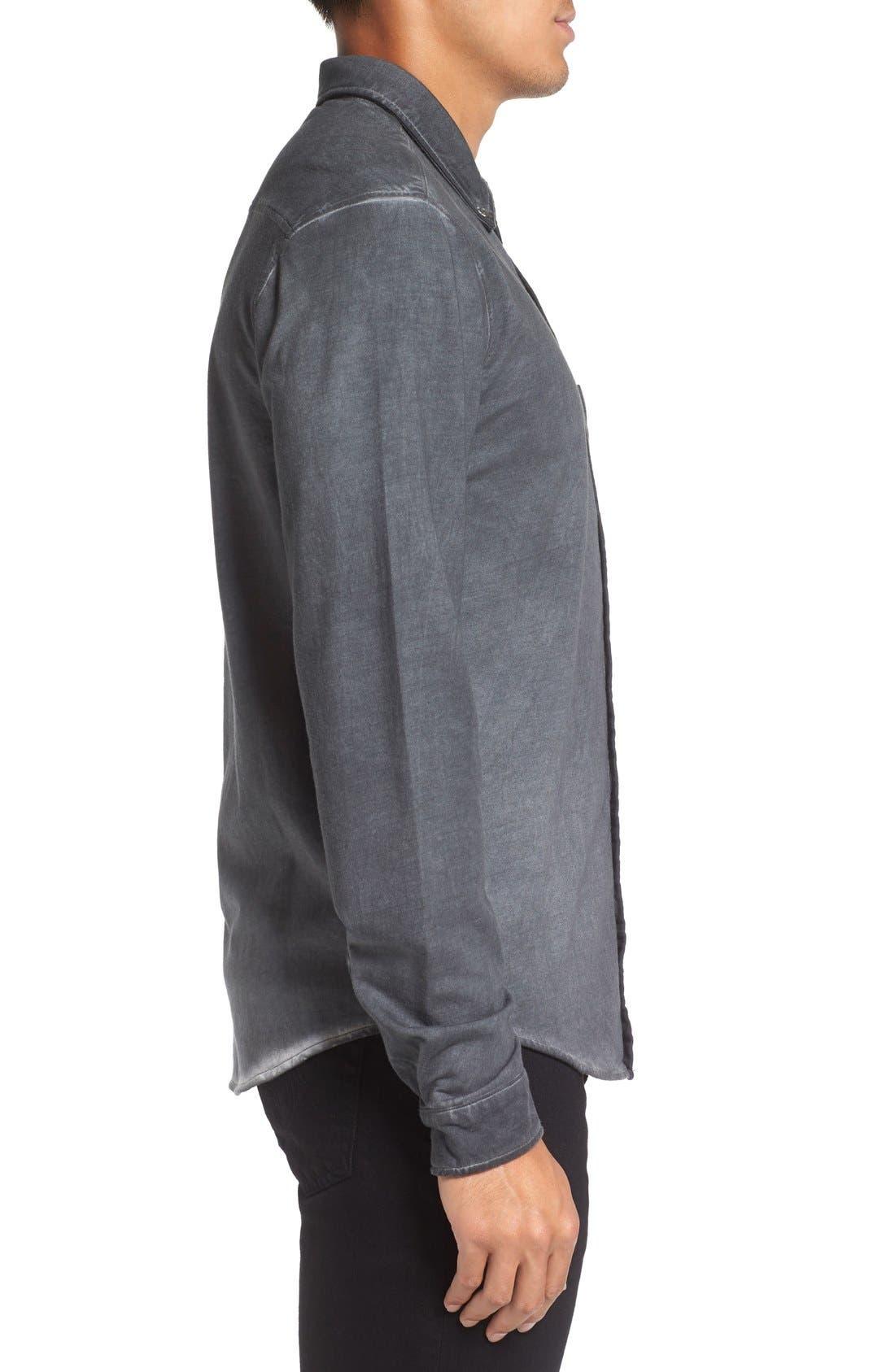Slim Fit Garment Washed Sport Shirt,                             Alternate thumbnail 8, color,