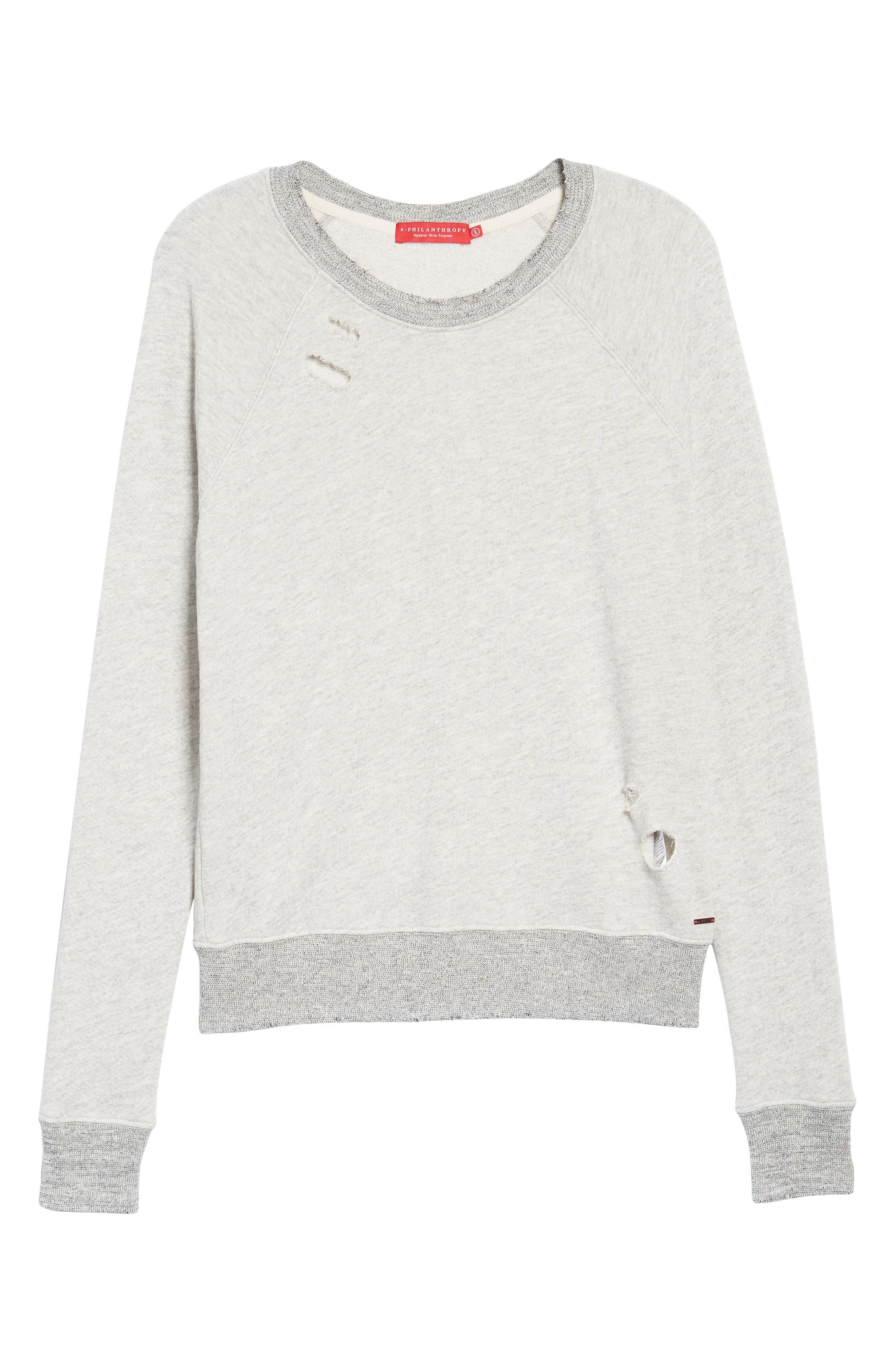 Belize Deconstructed Sweatshirt,                             Alternate thumbnail 6, color,                             030
