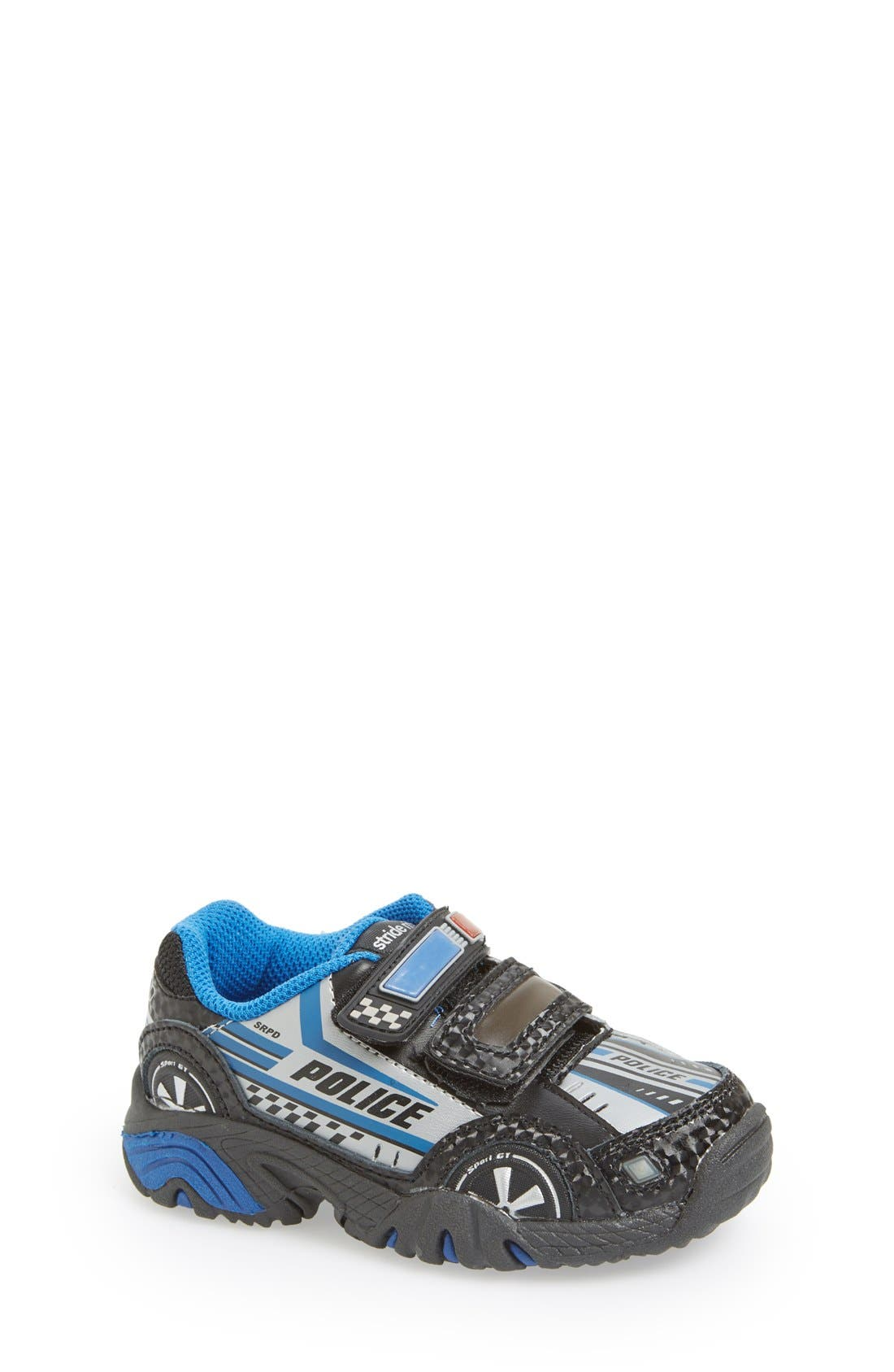 'Vroomz - Police Car' Light-Up Sneaker, Main, color, 001