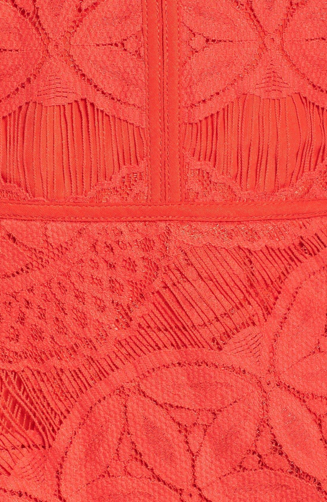 Lace High/Low Sheath Dress,                             Alternate thumbnail 24, color,