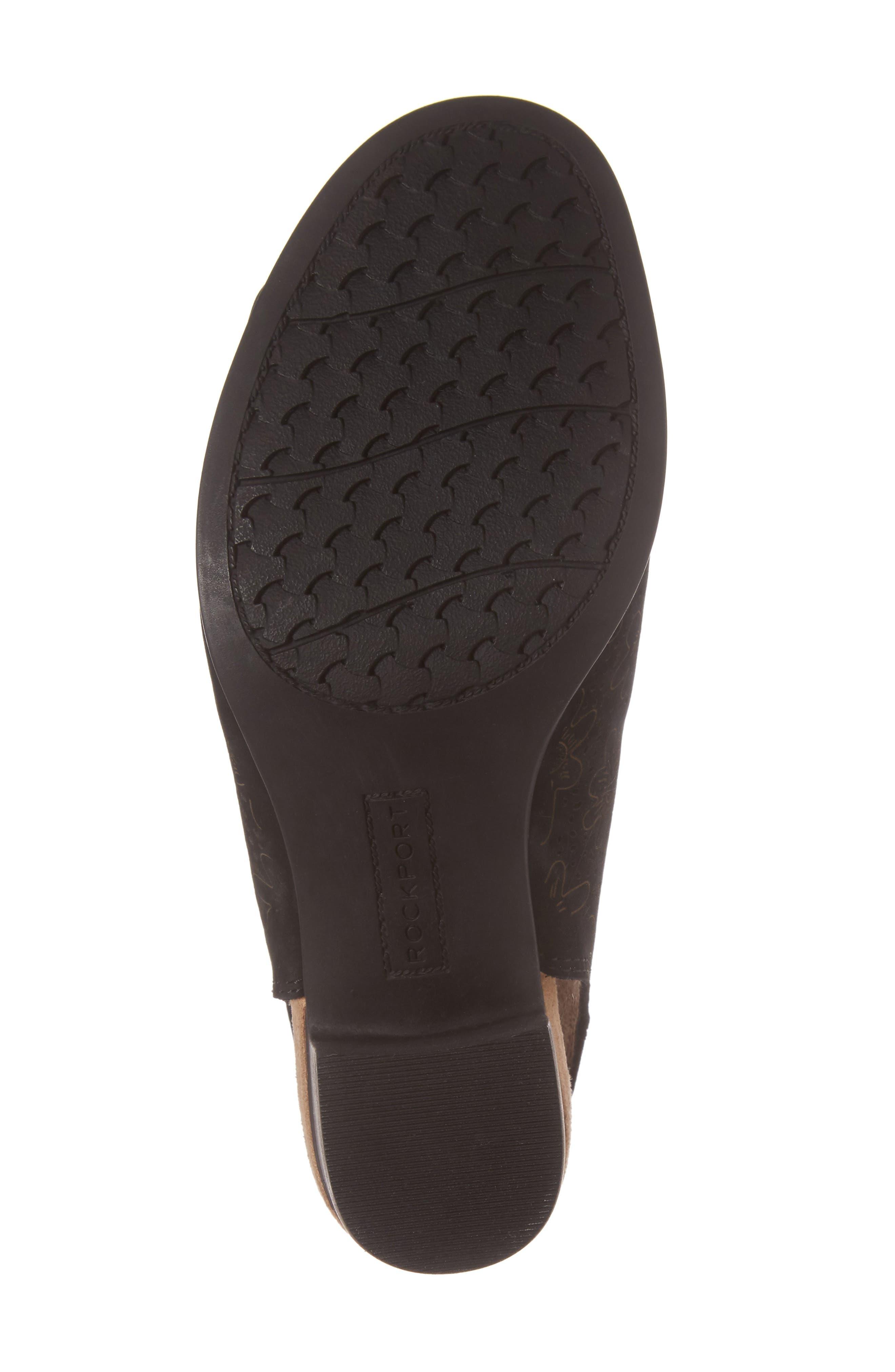 ROCKPORT COBB HILL,                             Hattie Perforated Slingback Sandal,                             Alternate thumbnail 6, color,                             BLACK NUBUCK