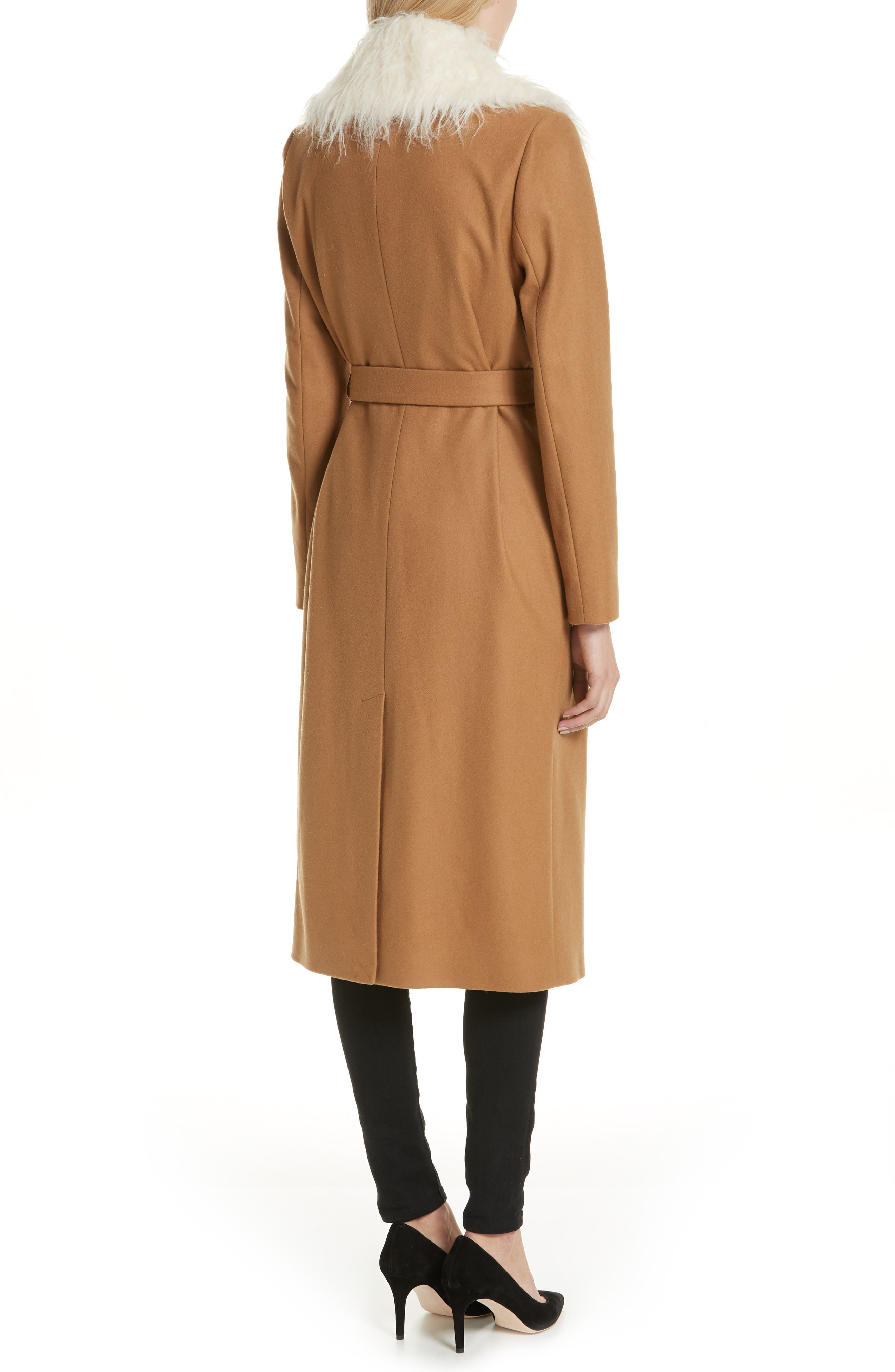 Colour by Numbers Alcaza Wool Coat with Removable Faux Fur Collar,                             Alternate thumbnail 2, color,                             257
