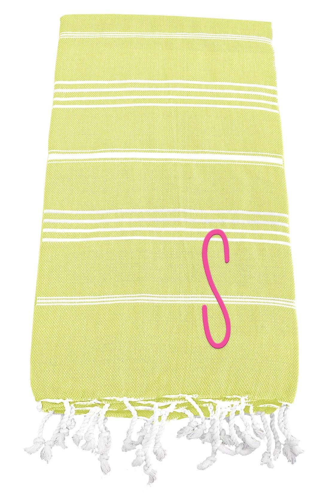 Monogram Turkish Cotton Towel,                             Main thumbnail 48, color,