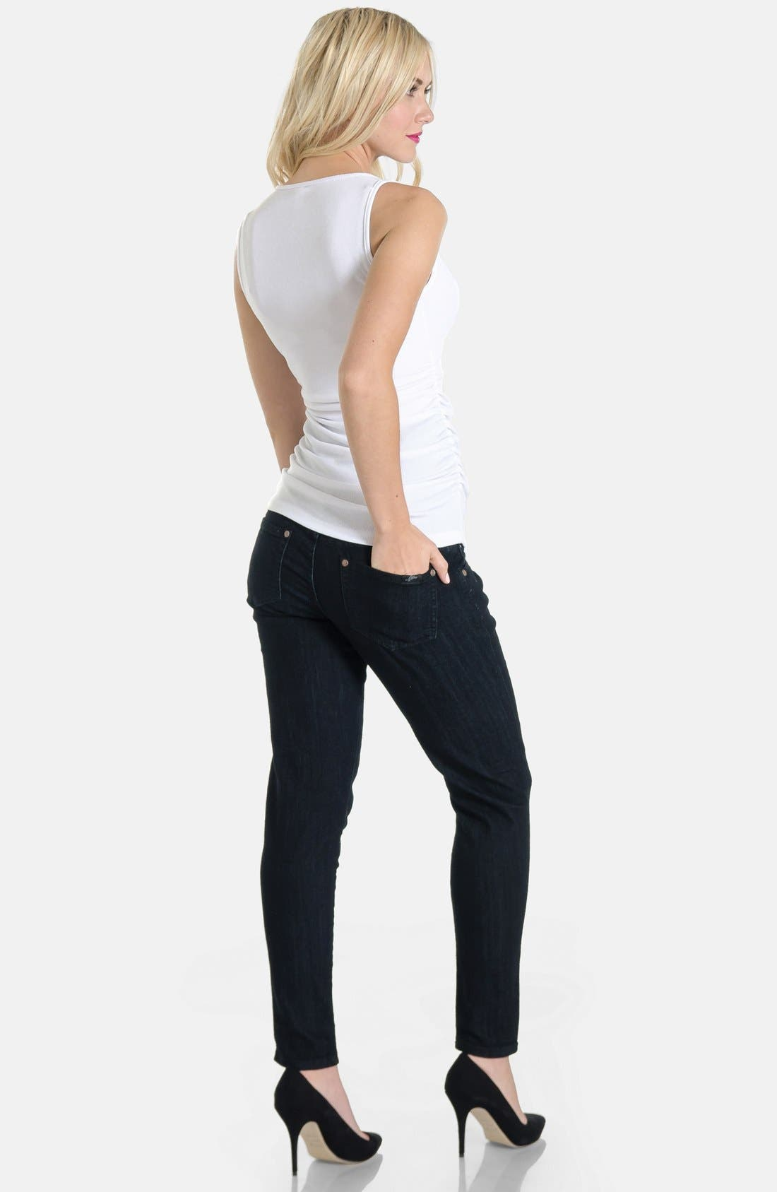 Skinny Maternity Jeans,                             Alternate thumbnail 7, color,
