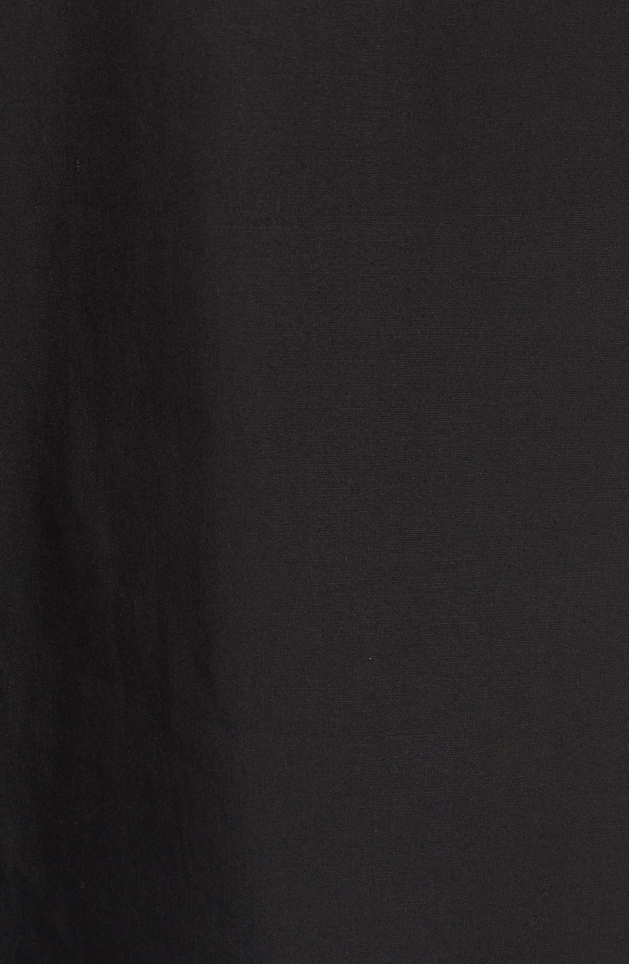 Tie Sleeve Poplin Blouse,                             Alternate thumbnail 5, color,                             001