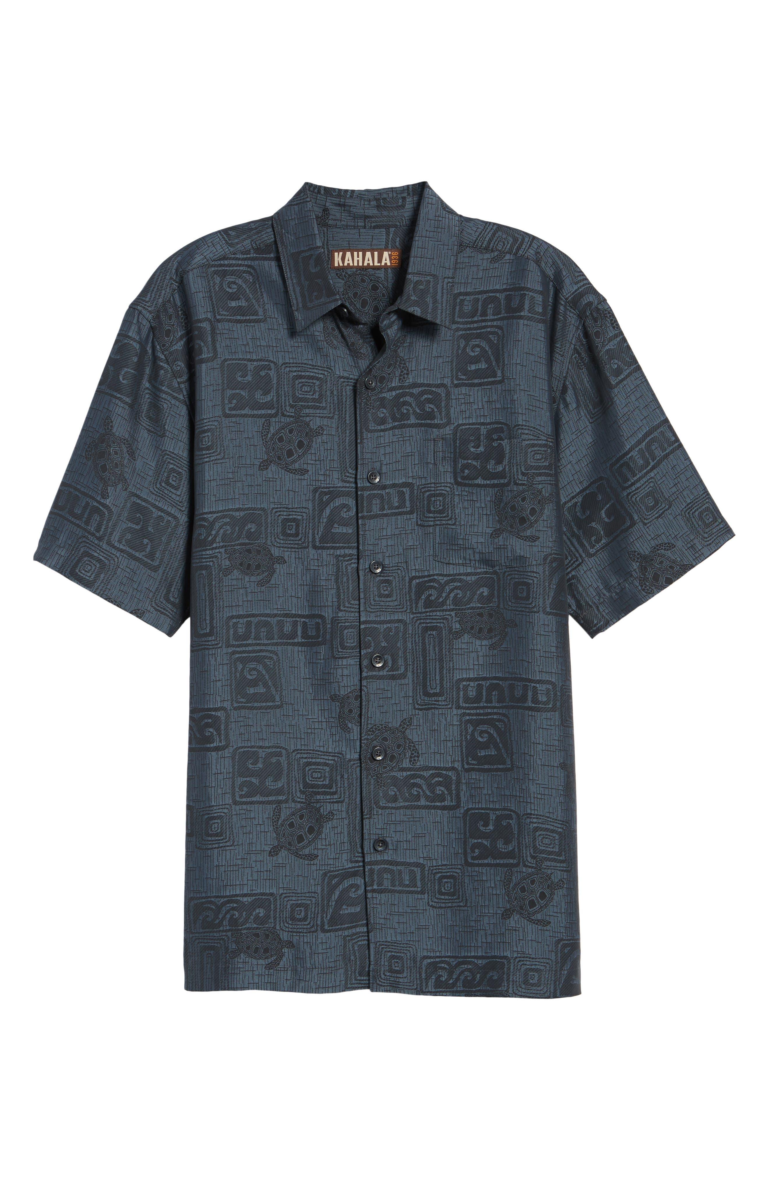 Sea Shells Classic Fit Sport Shirt,                             Alternate thumbnail 6, color,                             060