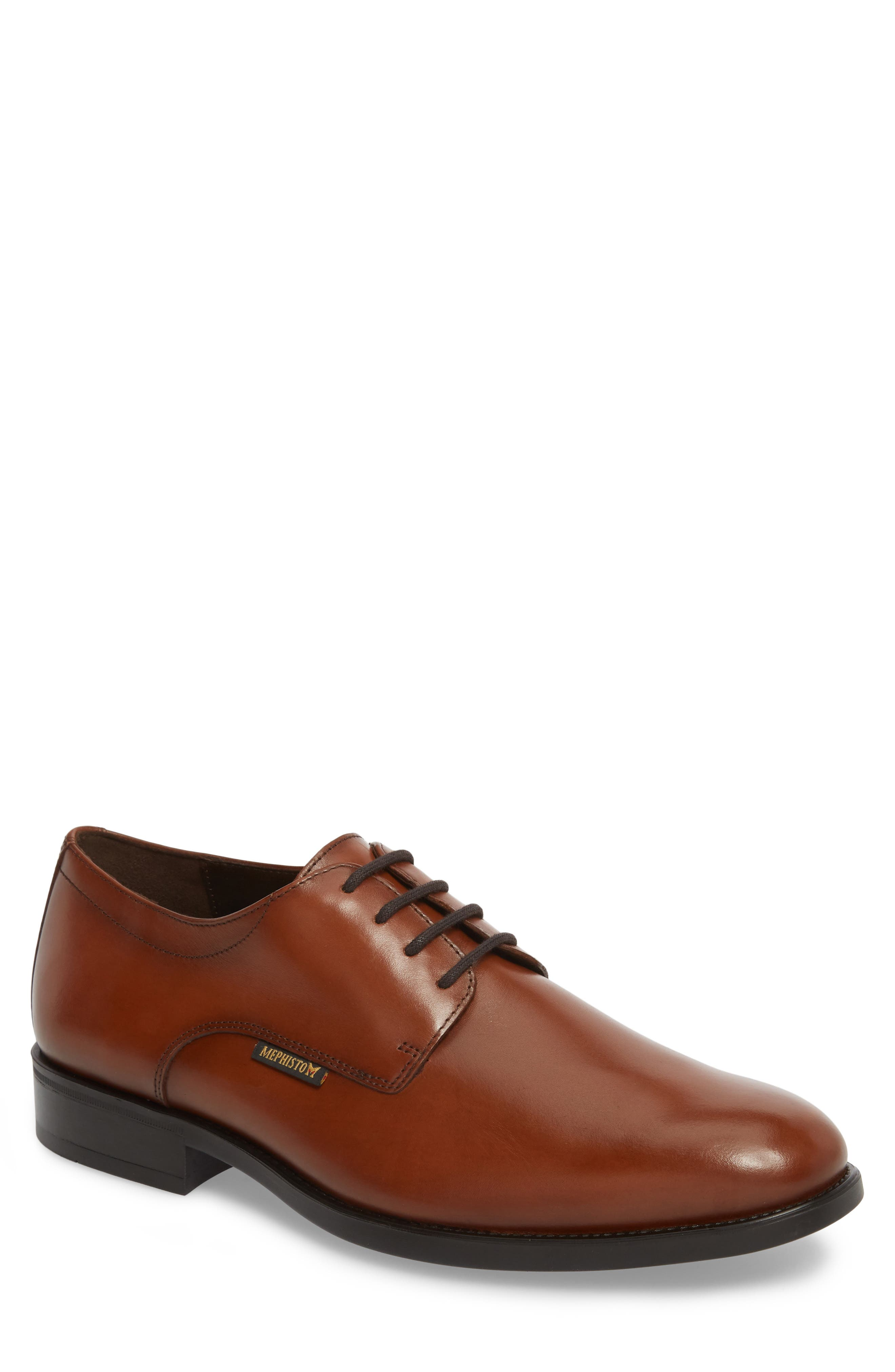 'Cooper' Plain Toe Derby,                             Main thumbnail 1, color,                             CHESTNUT LEATHER