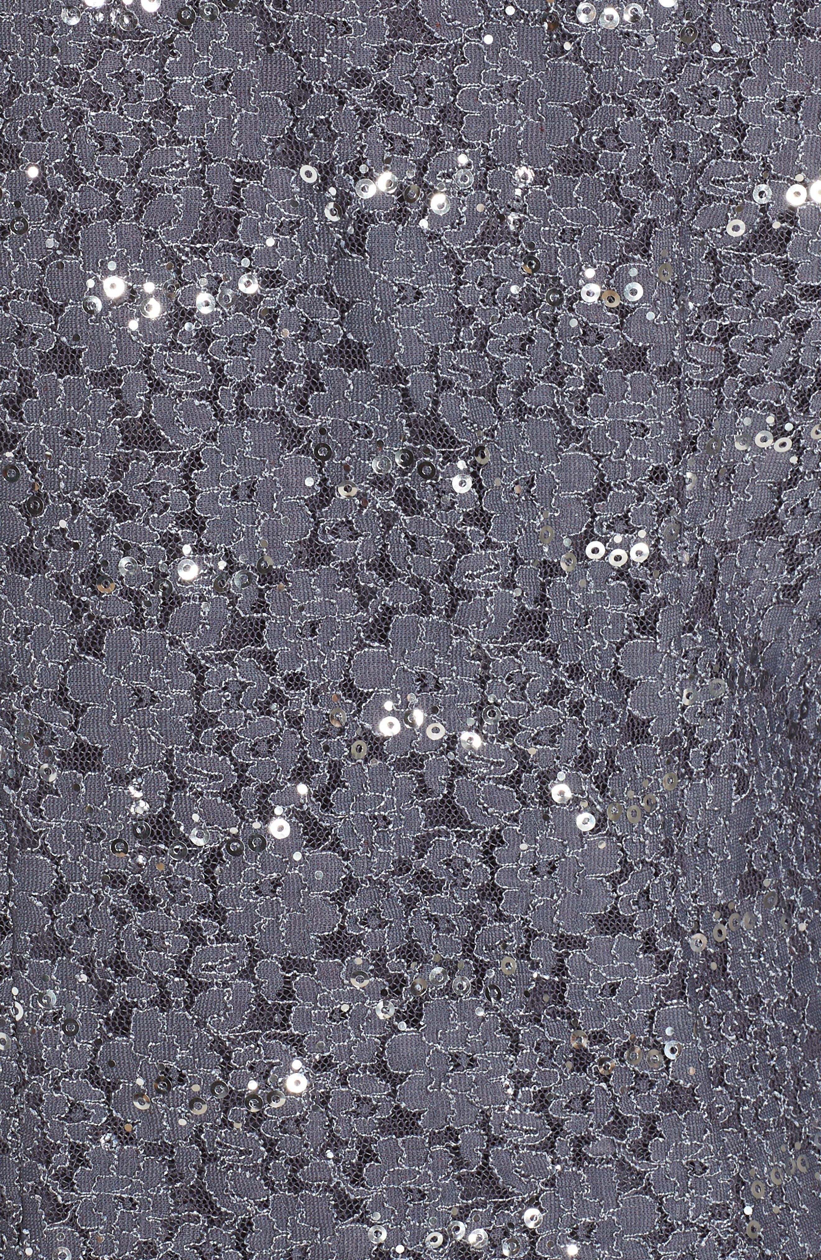 Sequin Lace Dress & Jacket,                             Alternate thumbnail 6, color,                             SMOKE