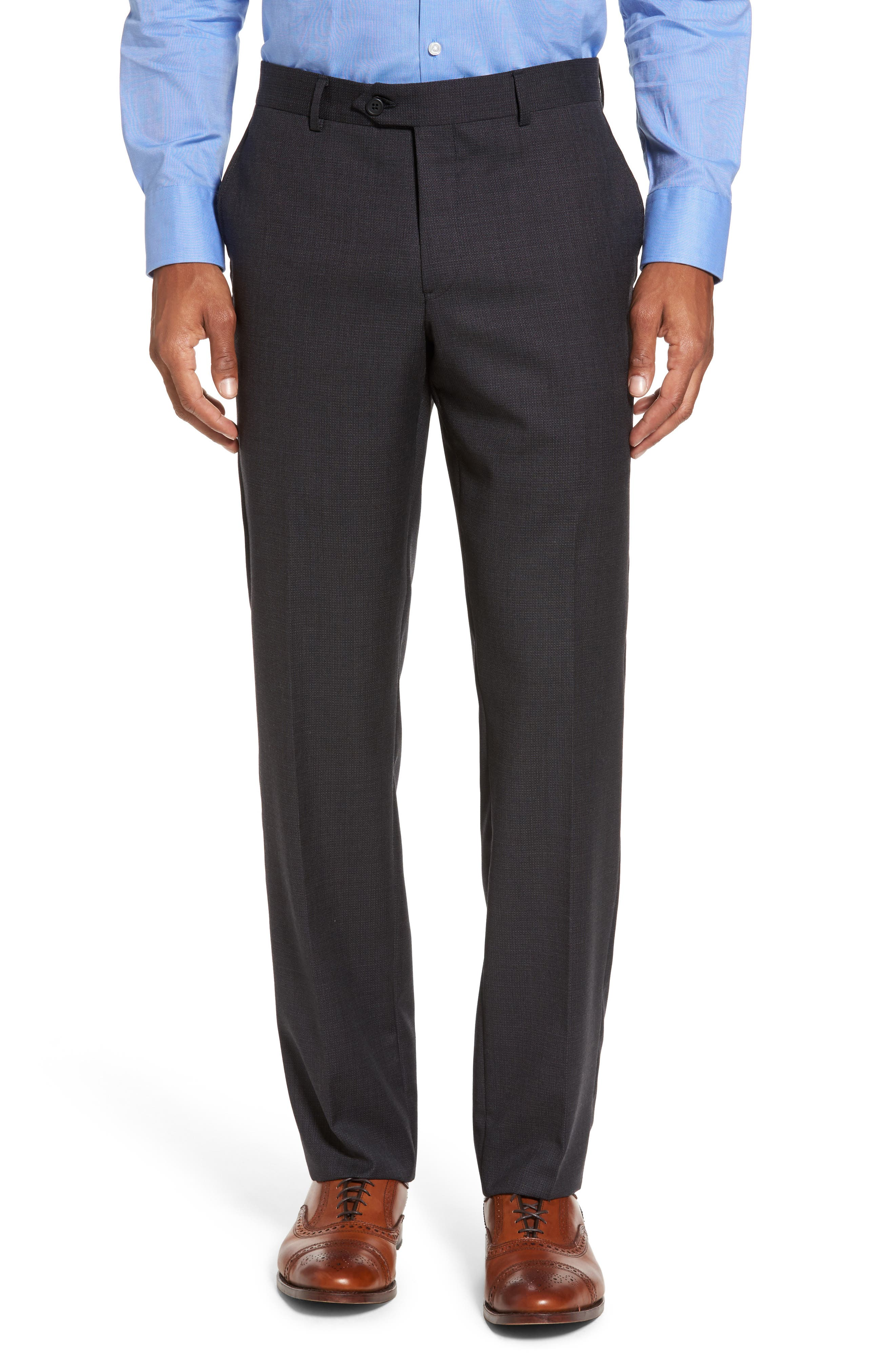 Classic Fit Solid Wool Suit,                             Alternate thumbnail 6, color,                             099