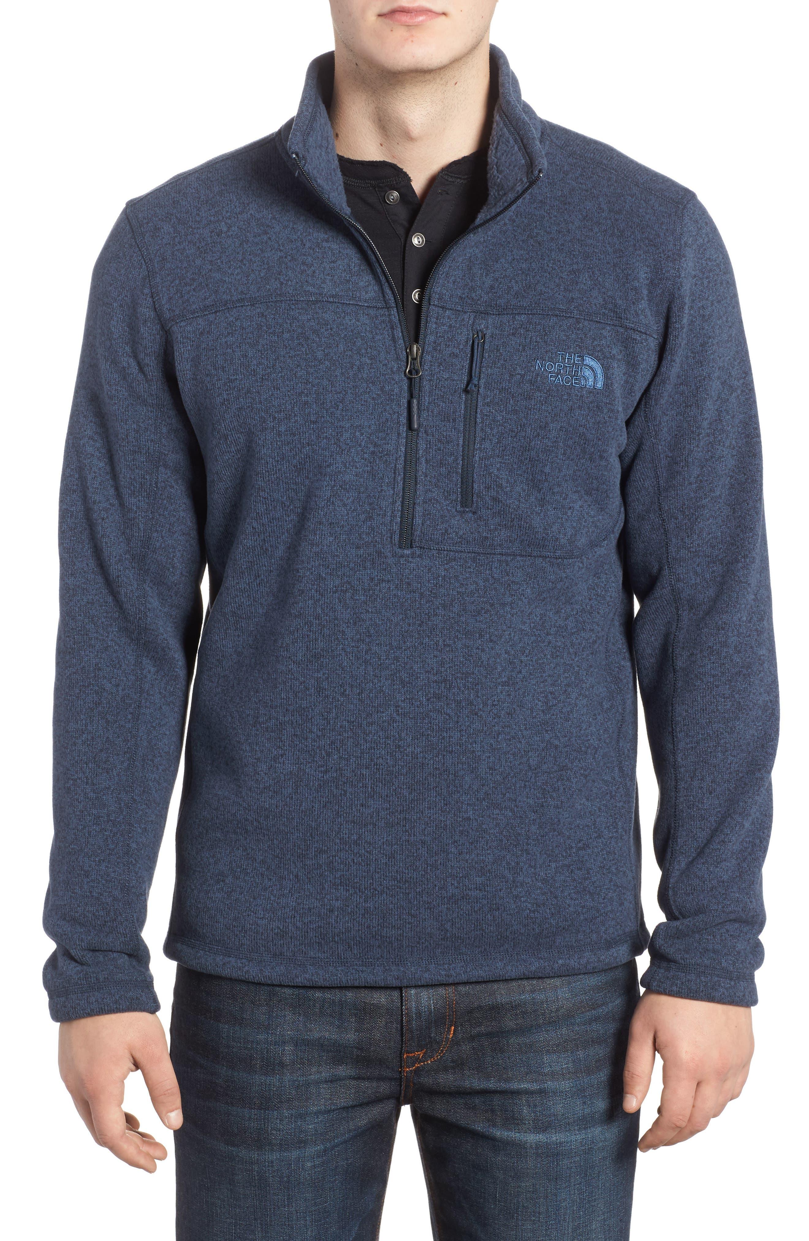 Gordon Lyons Quarter-Zip Fleece Jacket,                         Main,                         color, URBAN NAVY HEATHER