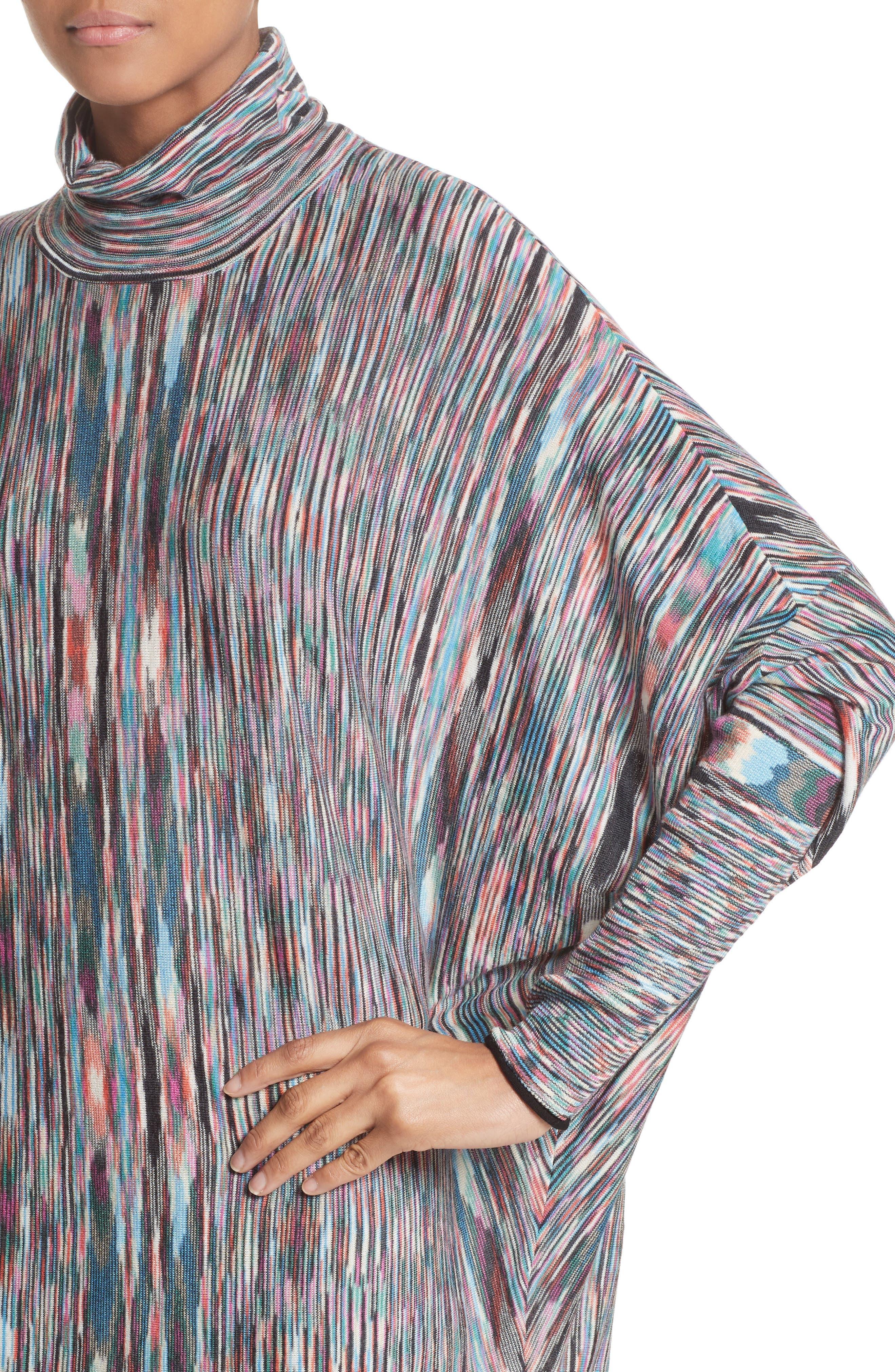 Space Dye Knit Dress,                             Alternate thumbnail 4, color,                             001