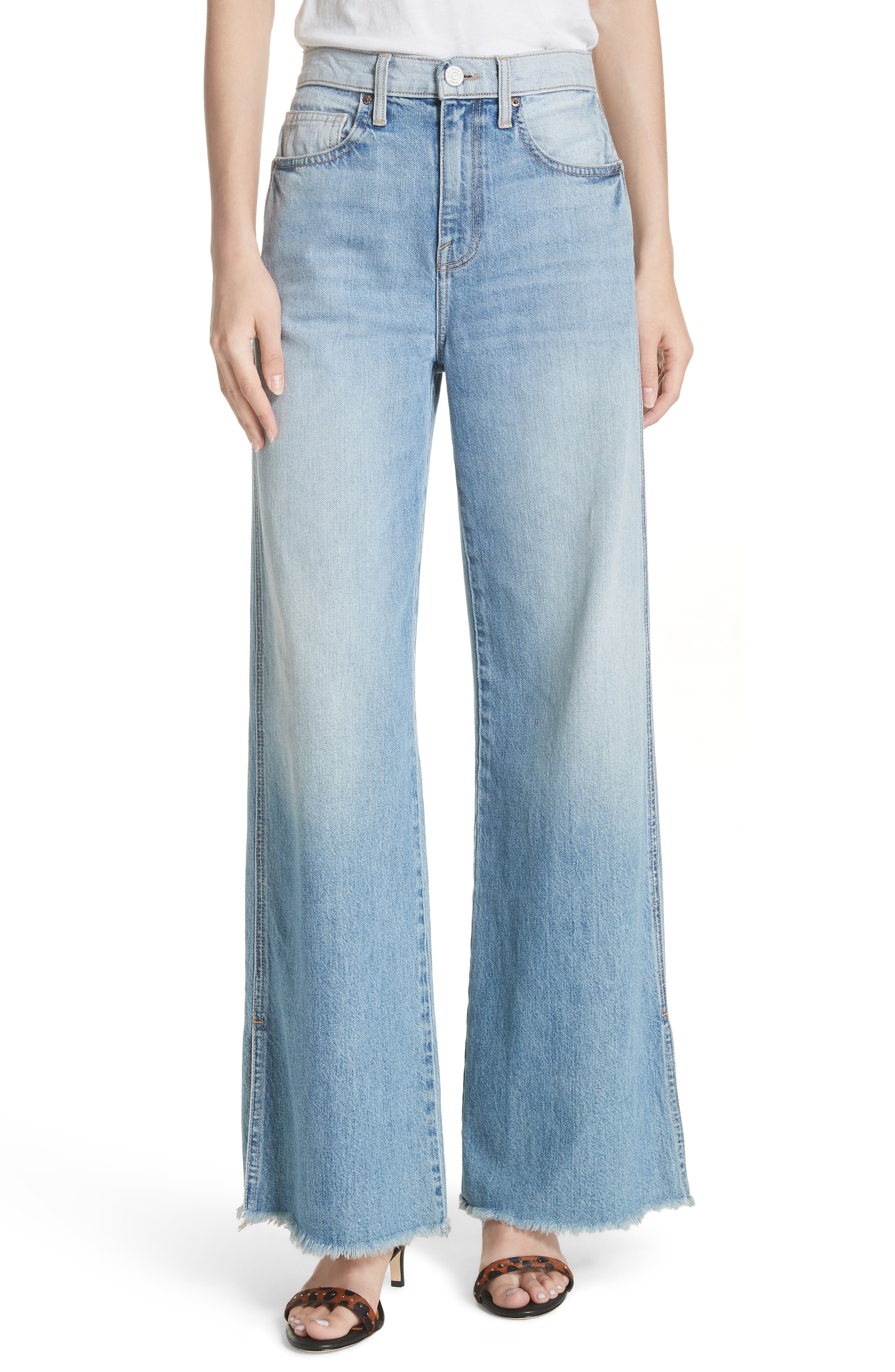Isemene Wide Leg Jeans,                             Main thumbnail 1, color,                             450