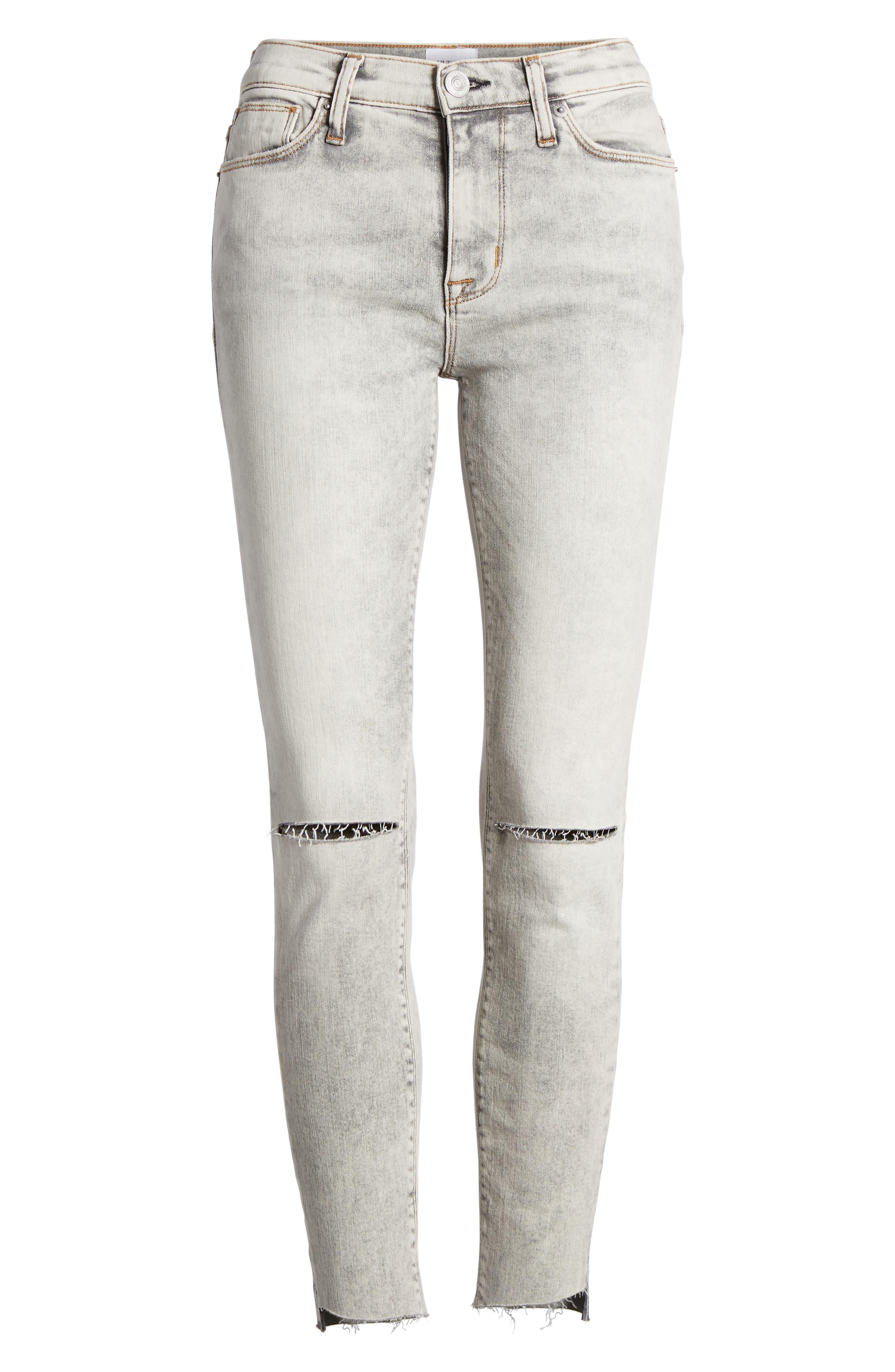 Nico Crop Step Hem Super Skinny Jeans,                             Alternate thumbnail 7, color,                             SAY THE WORD