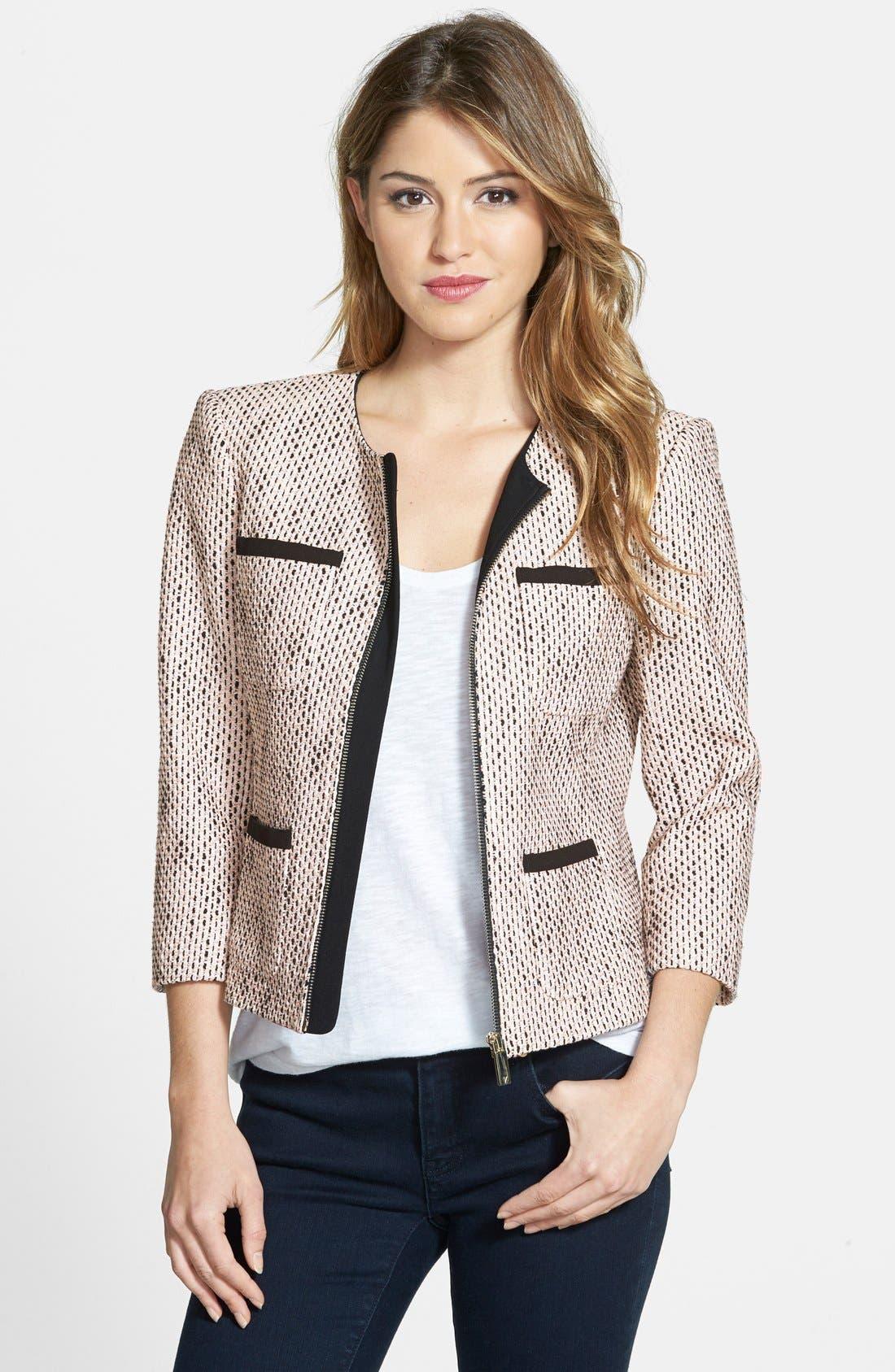 Four-Pocket Tweed Jacket,                             Main thumbnail 1, color,                             692