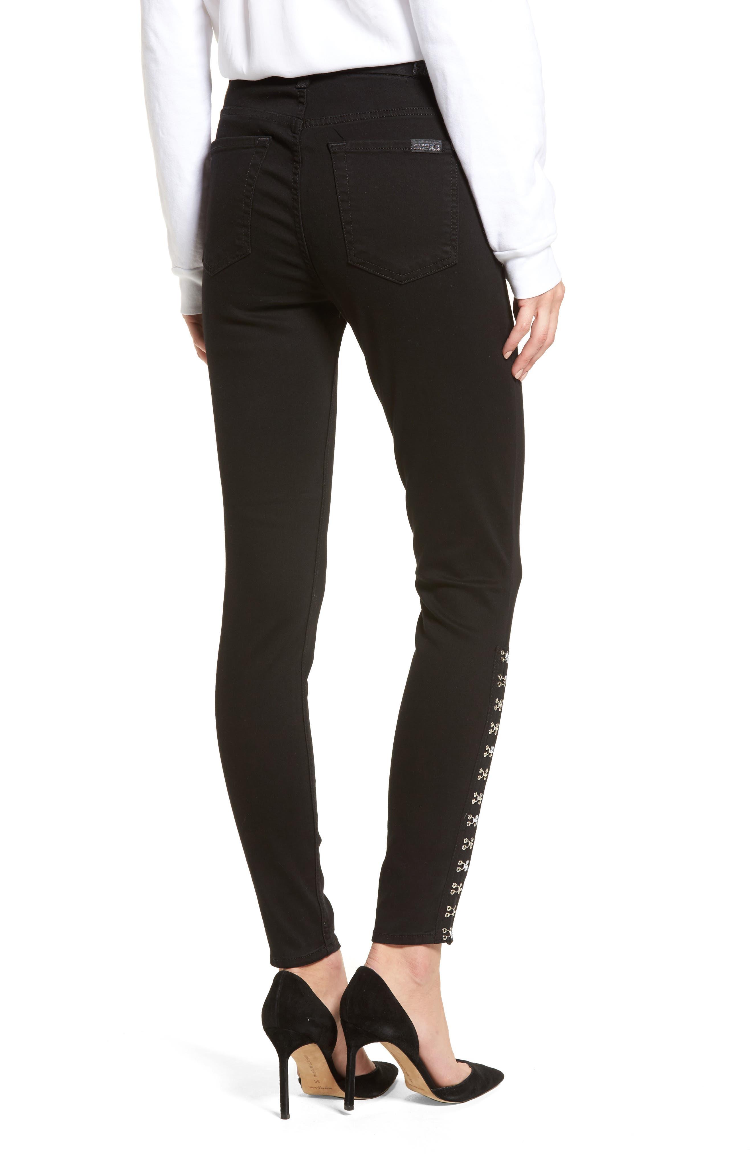 Hook Hem High Waist Ankle Skinny Jeans,                             Alternate thumbnail 2, color,                             004