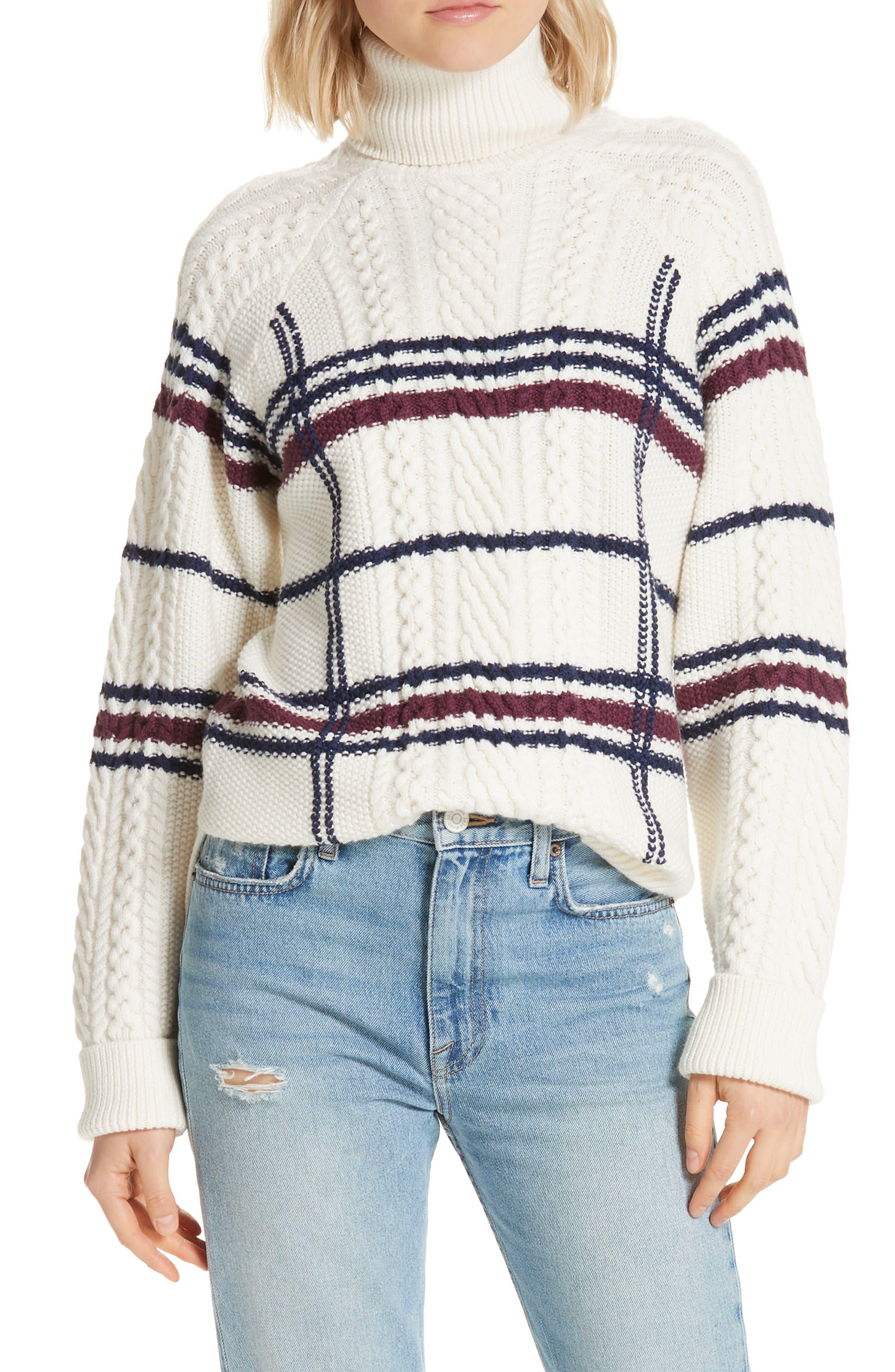 Ashlisa Sweater,                         Main,                         color, PORCELAIN