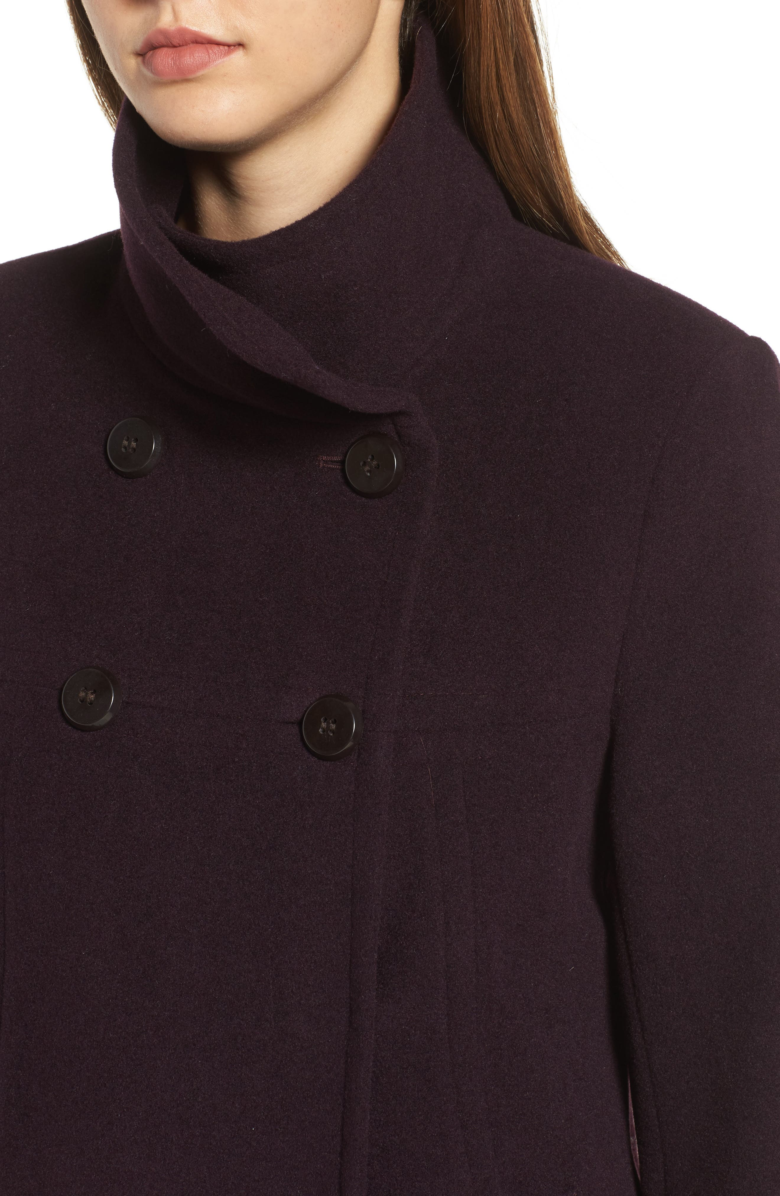 Double Breasted Coat,                             Alternate thumbnail 15, color,