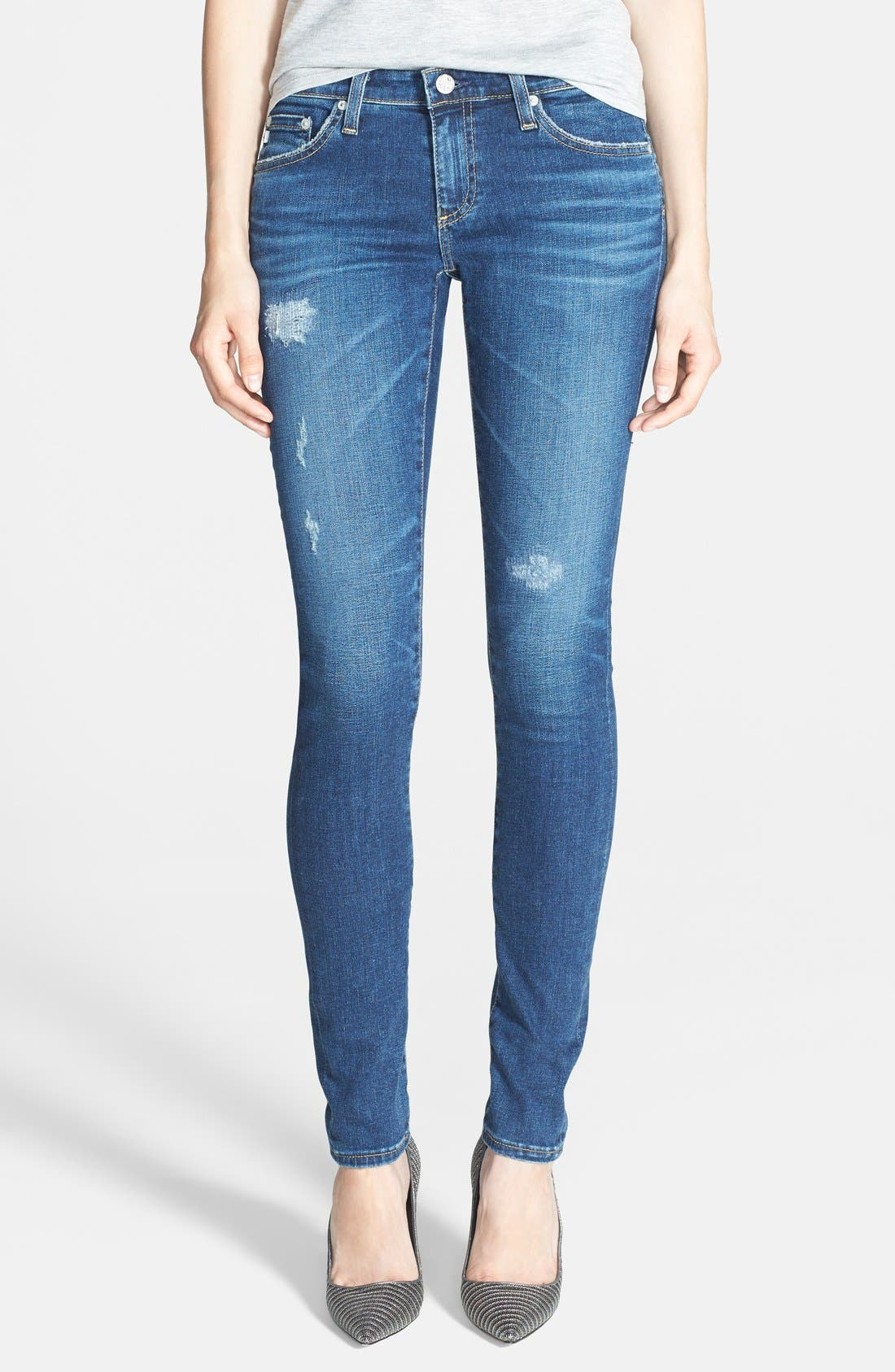 'The Legging' Super Skinny Jeans,                             Main thumbnail 7, color,