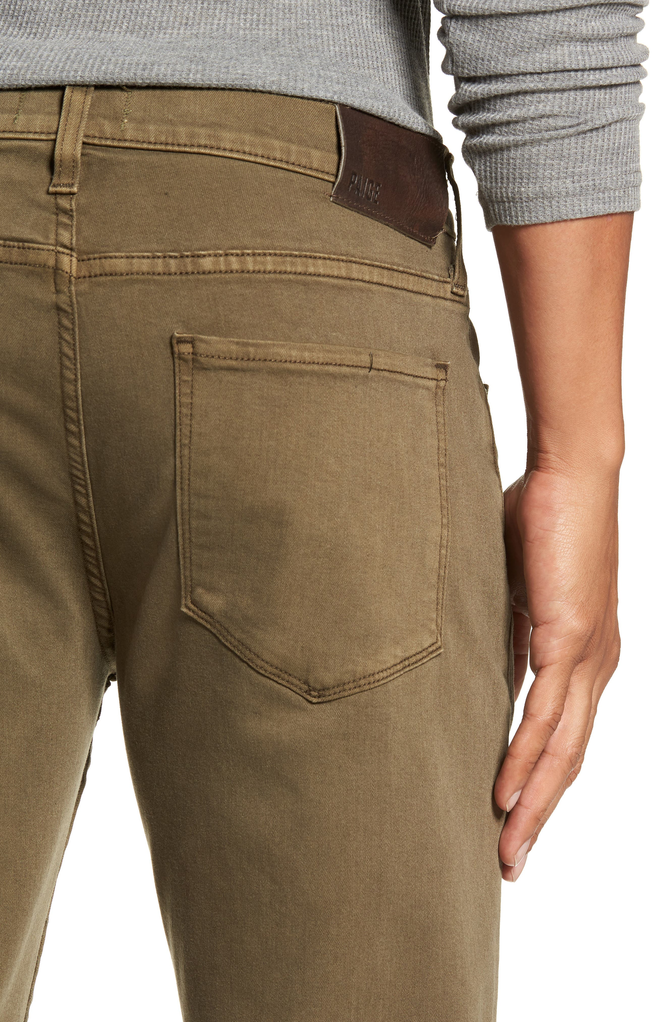 Transcend - Normandie Straight Leg Jeans,                             Alternate thumbnail 4, color,                             VINTAGE ARTICHOKE
