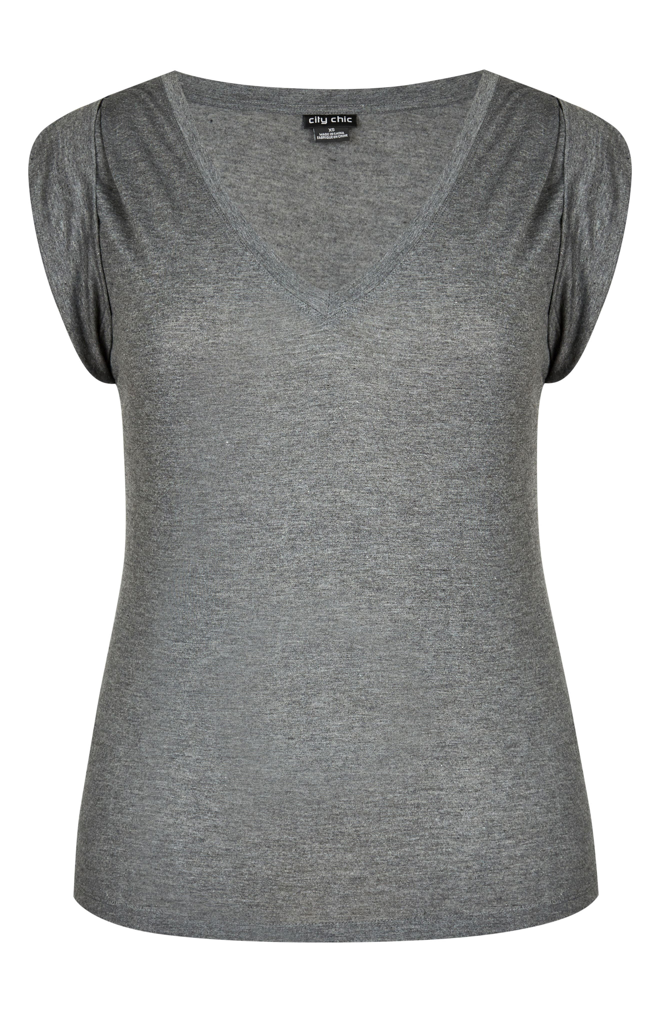 V-Neck Tee,                             Alternate thumbnail 3, color,                             028