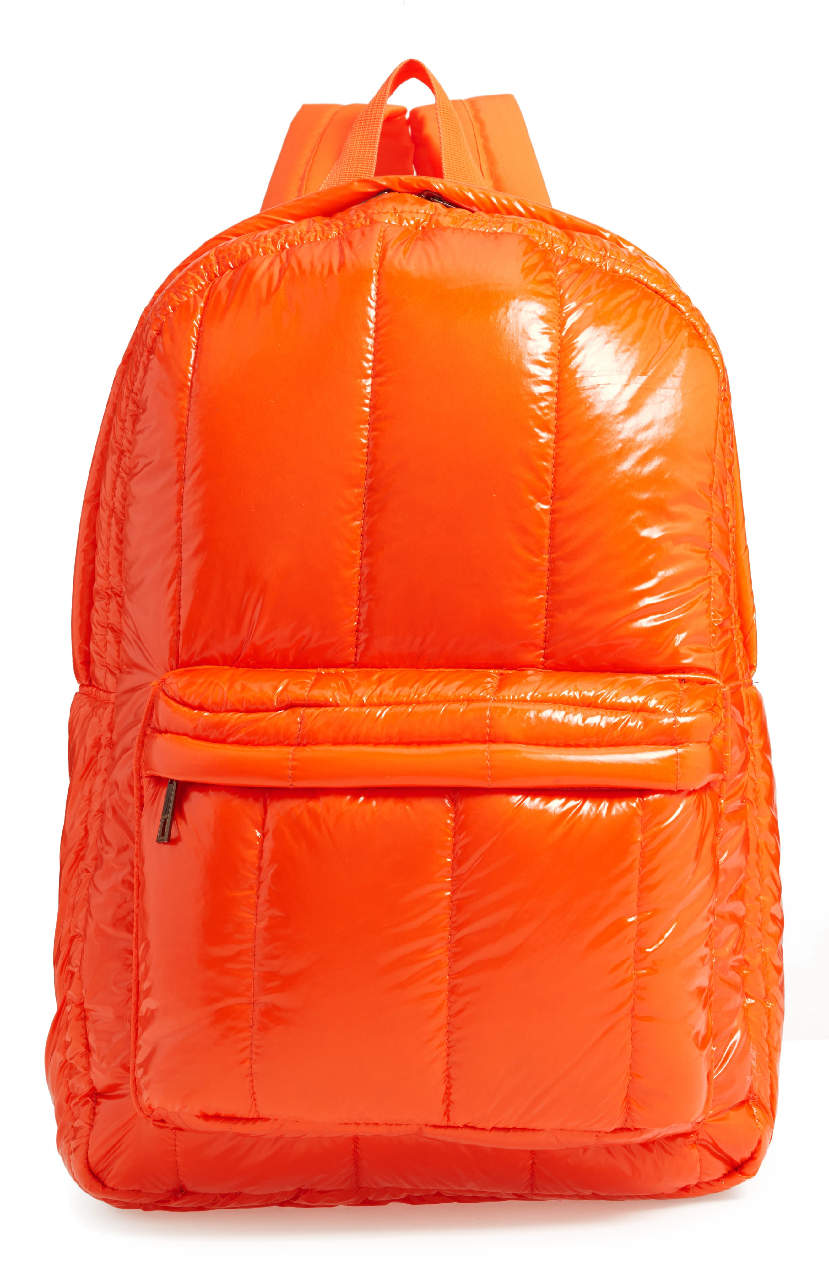 Jane & Berry Quilted Puffer Backpack - Orange