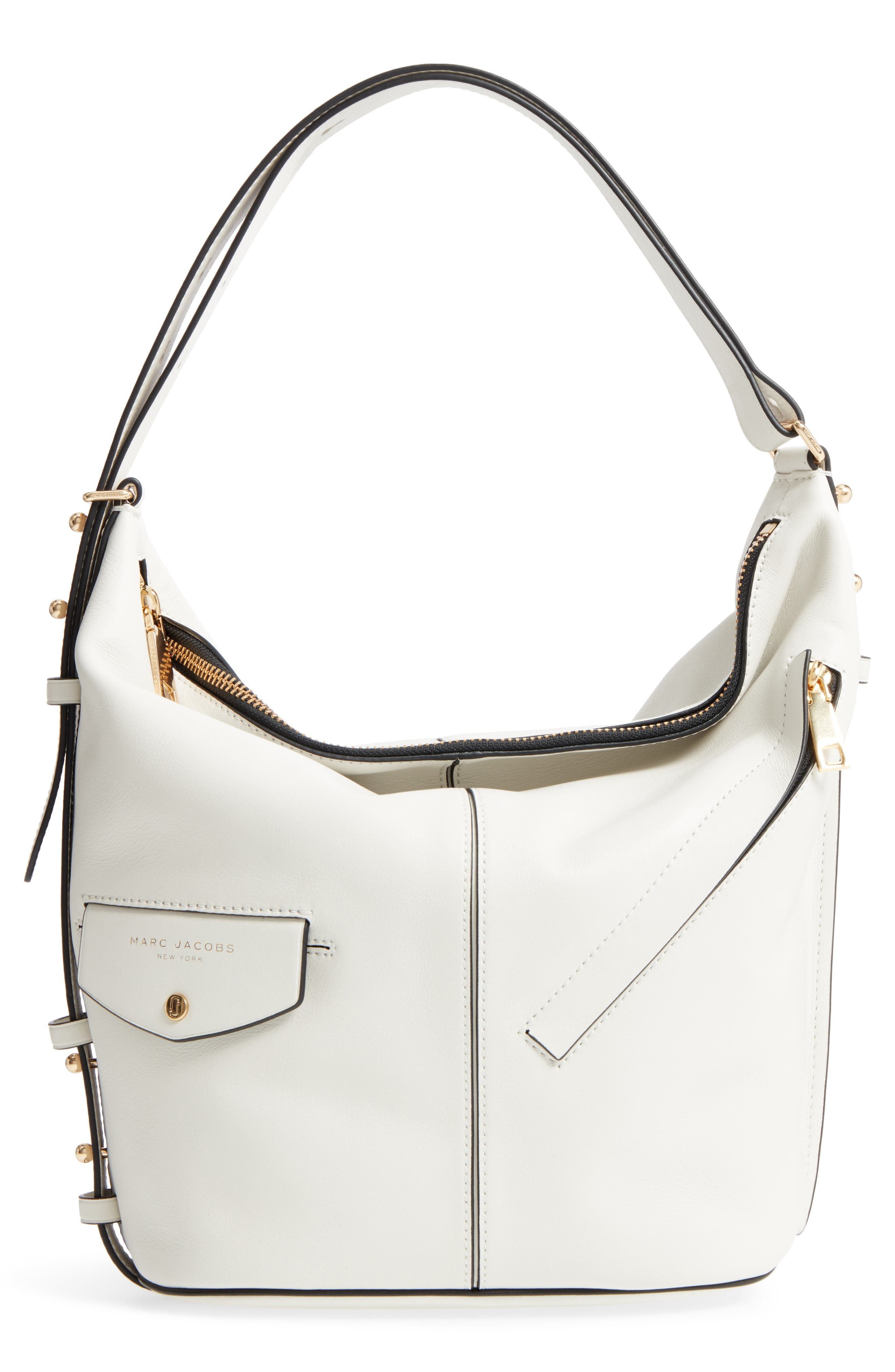 The Sling Convertible Leather Hobo,                             Main thumbnail 1, color,                             103