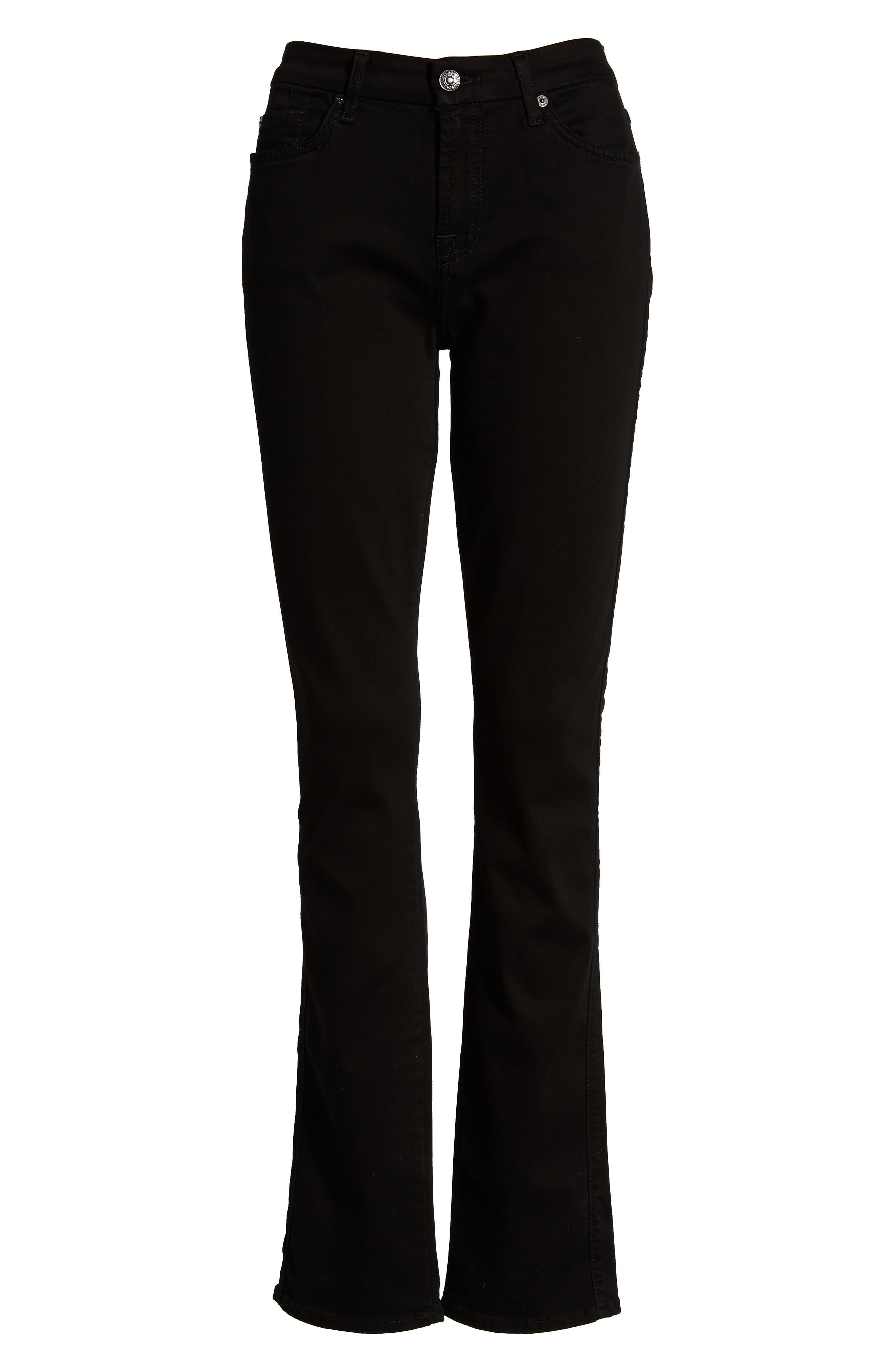 7 FOR ALL MANKIND<SUP>®</SUP>,                             'b(air) - Kimmie' Straight Leg Jeans,                             Alternate thumbnail 2, color,                             BAIR BLACK