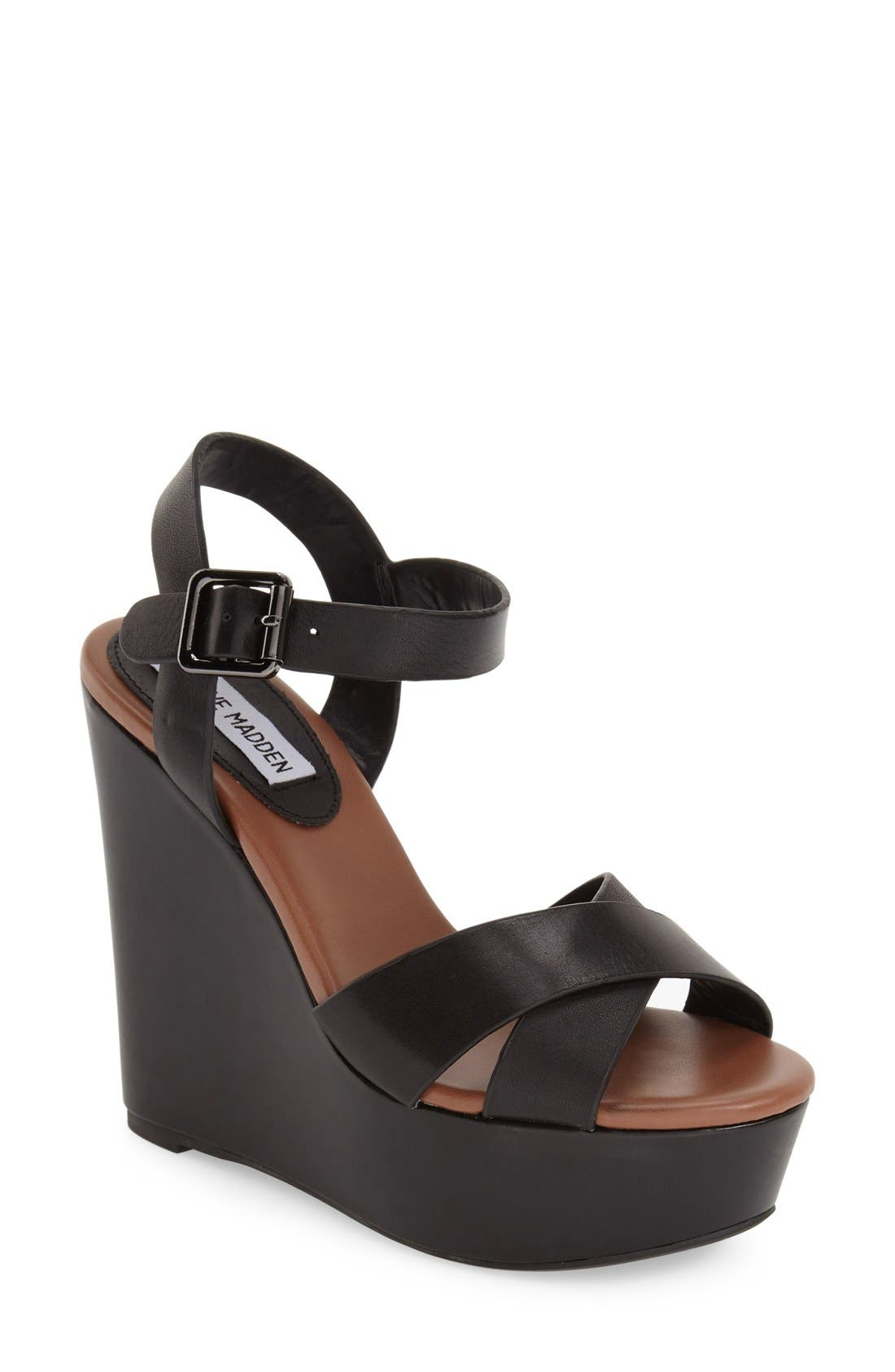 'Keviee' Wedge Sandal,                         Main,                         color, 001