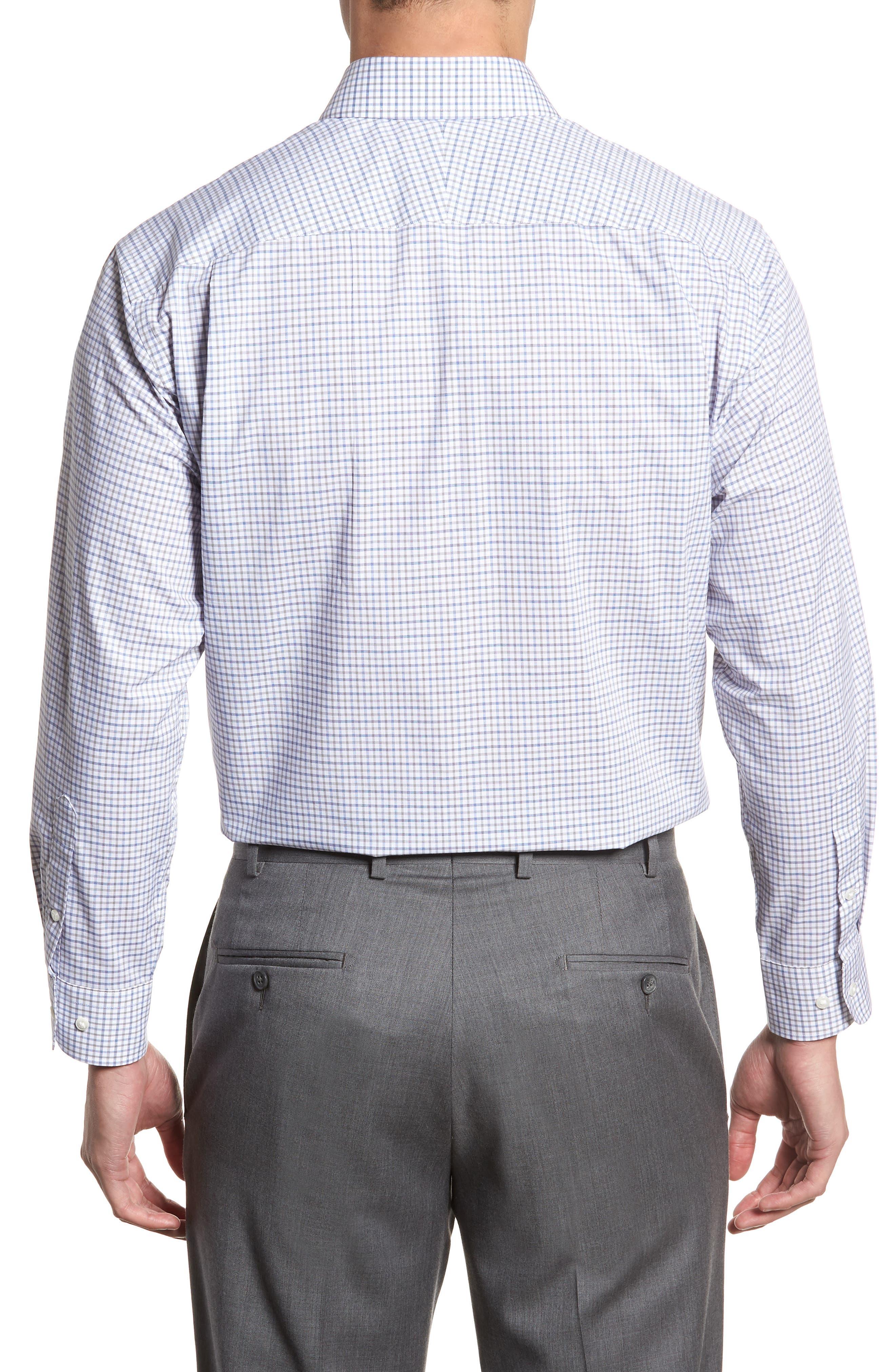Classic Fit Check Dress Shirt,                             Alternate thumbnail 9, color,
