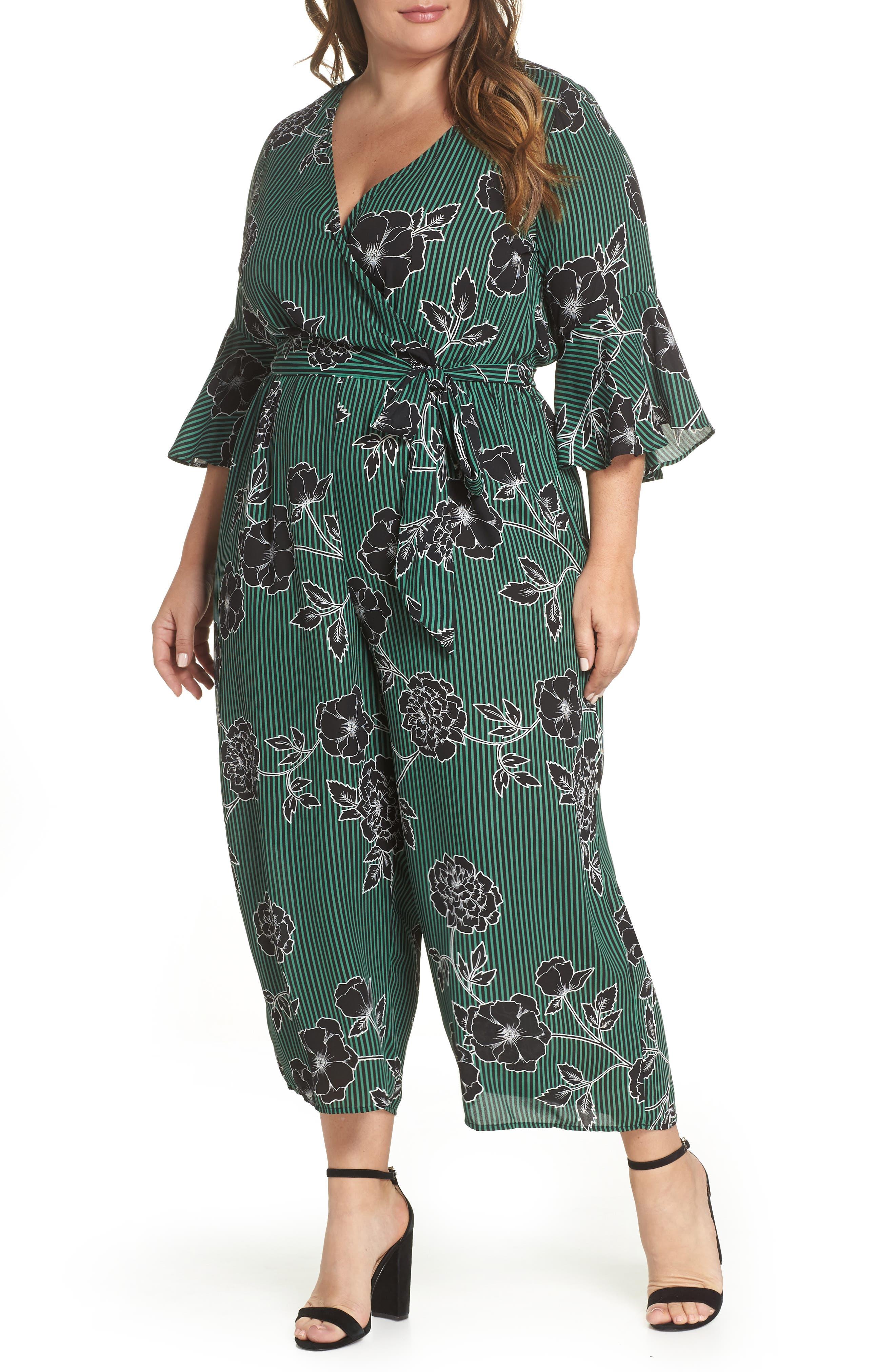 Floral Print Jumpsuit, Main, color, VARSITY FLORAL