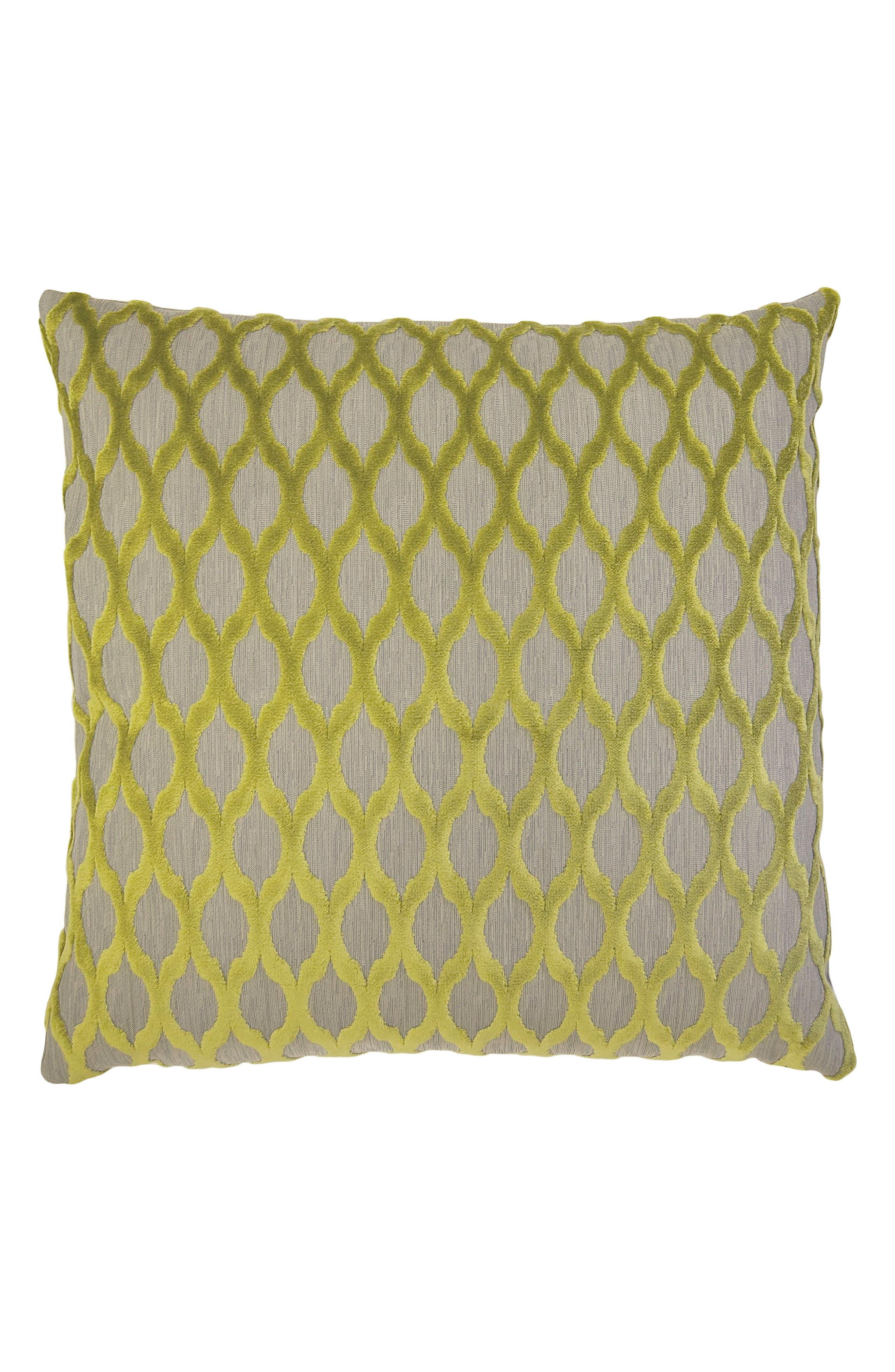 Lattice Accent Pillow,                         Main,                         color, GREEN