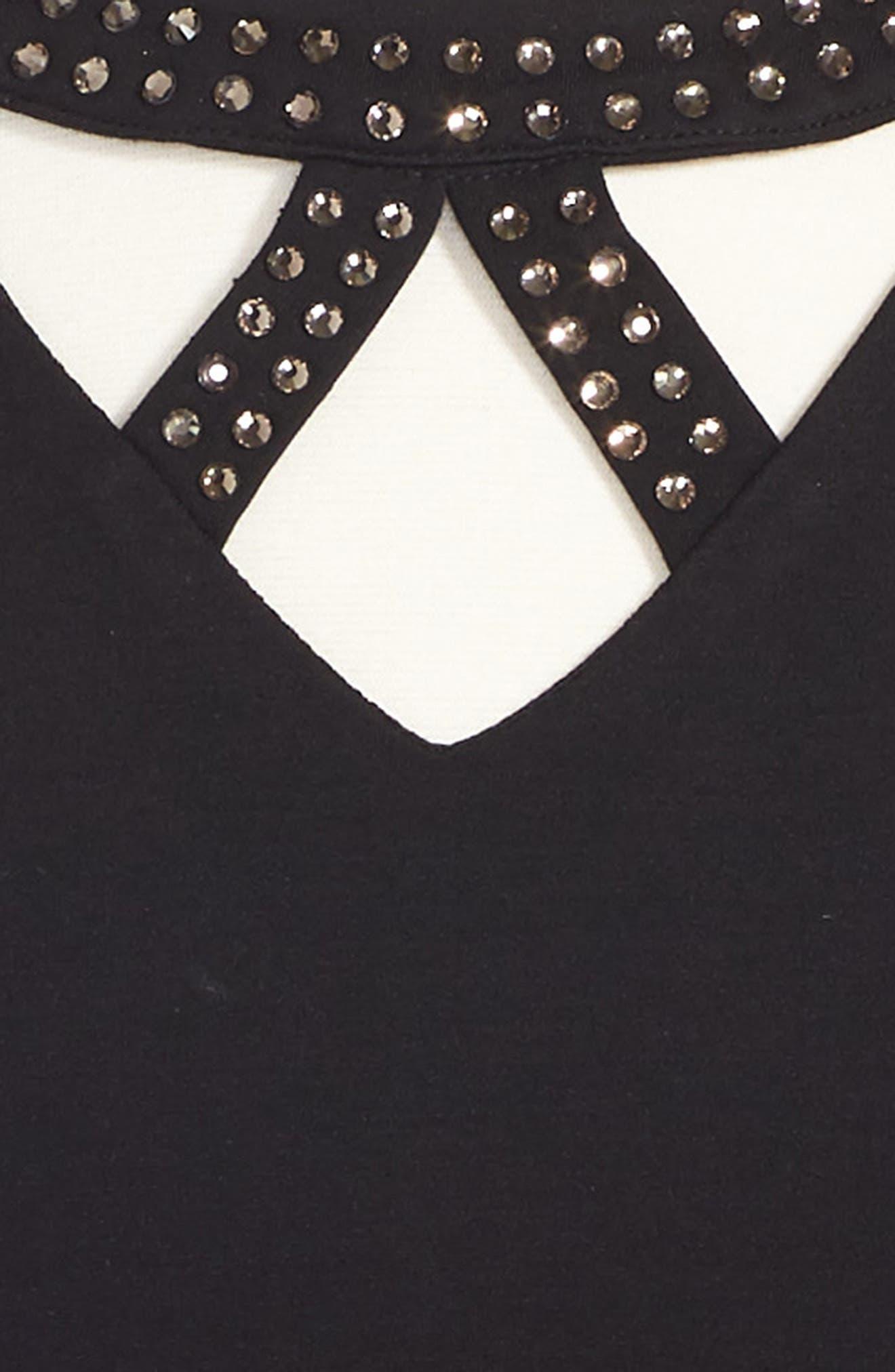 Ponti Dress,                             Alternate thumbnail 3, color,                             001