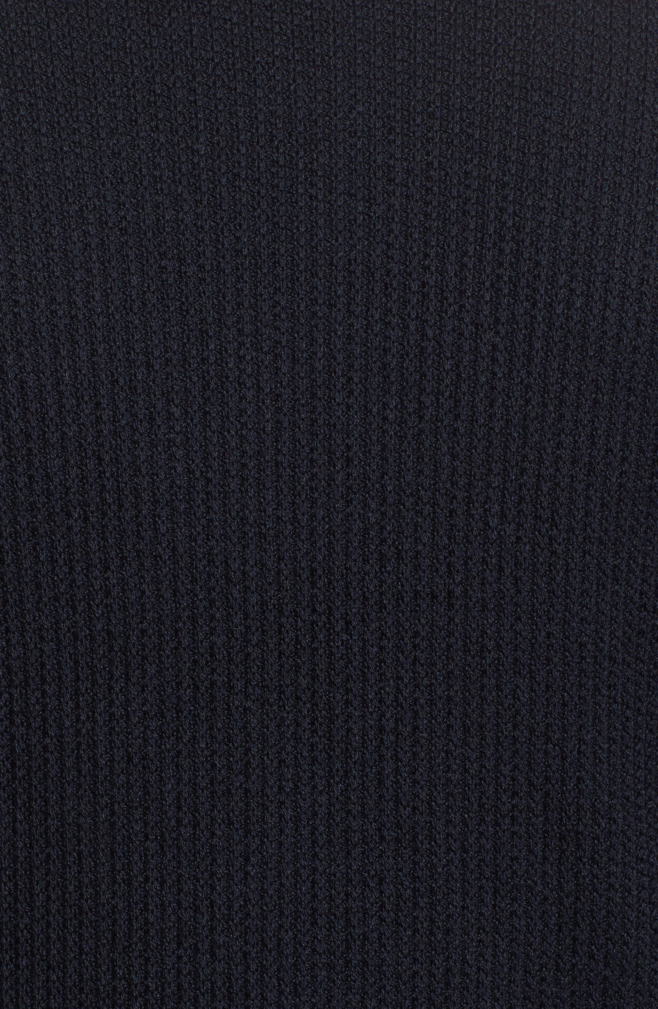 Slim Fit Wool & Silk Zip Cardigan,                             Alternate thumbnail 5, color,