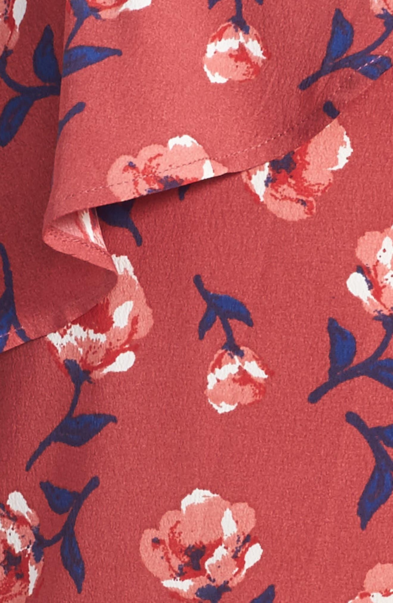Zoe & Rose Floral Cold Shoulder Dress,                             Alternate thumbnail 3, color,                             653