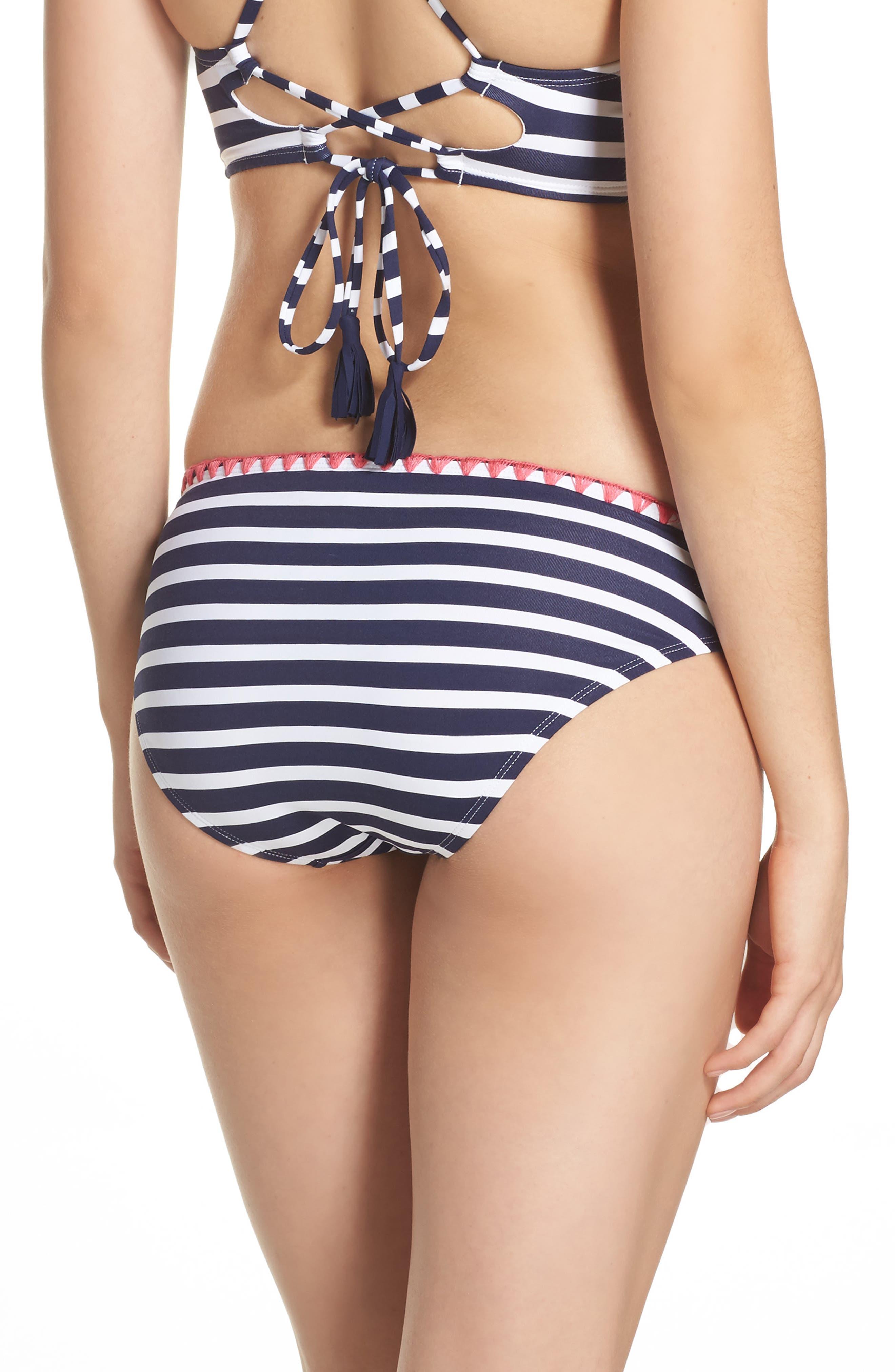 Breton Stripe Bikini Bottoms,                             Alternate thumbnail 2, color,                             400