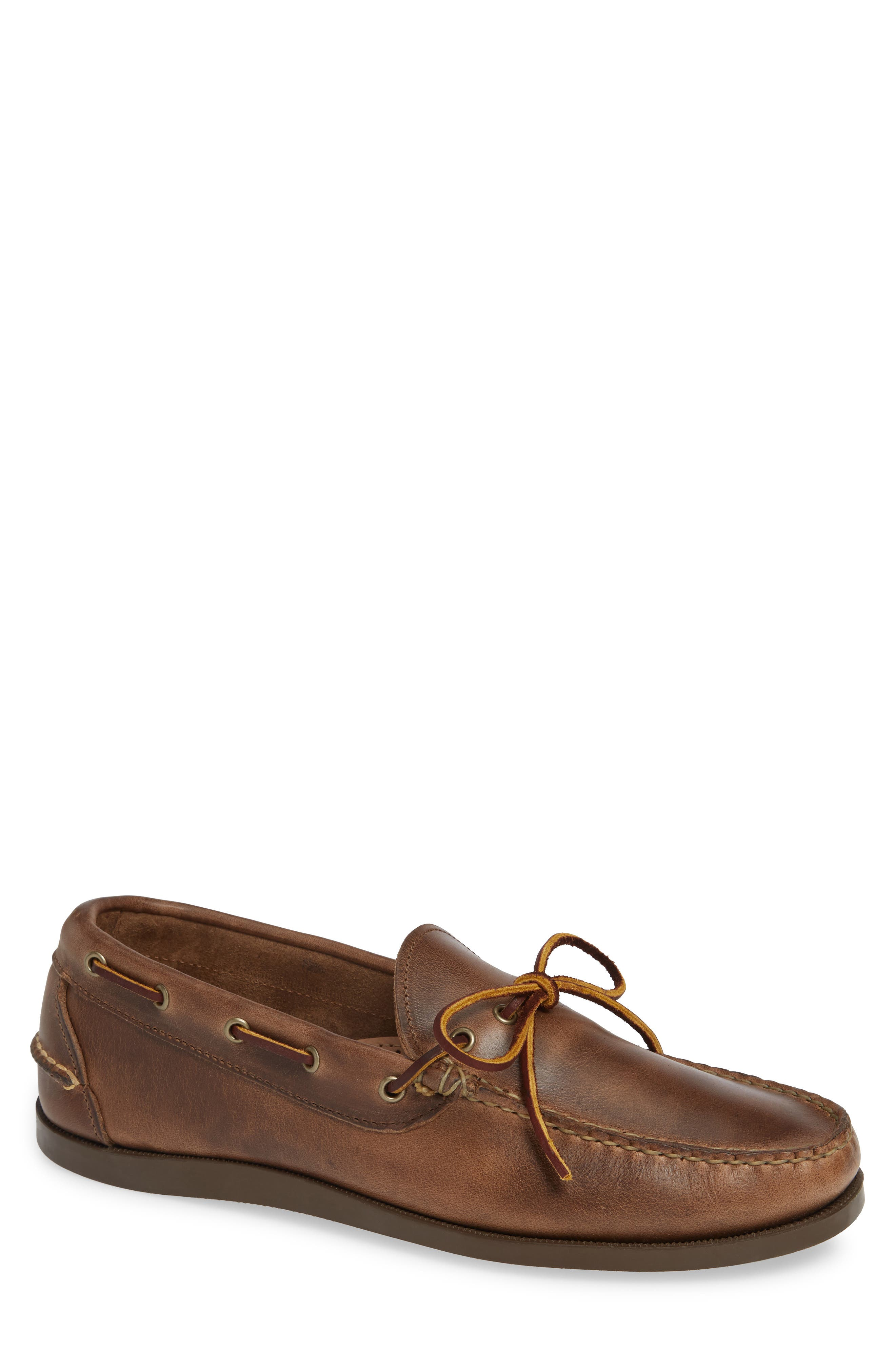 OAK STREET BOOTMAKERS Camp Moccasin in Natural Leather