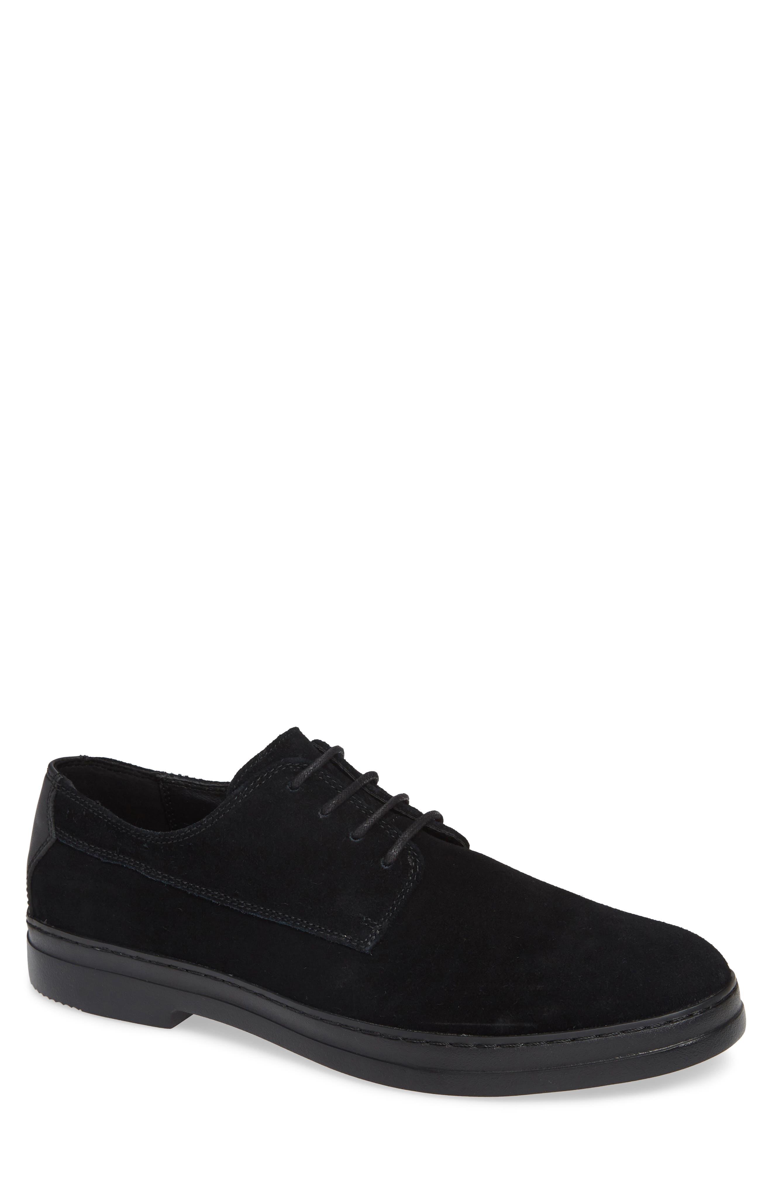 Rickie Buck Shoe,                         Main,                         color, BLACK CALF SUEDE
