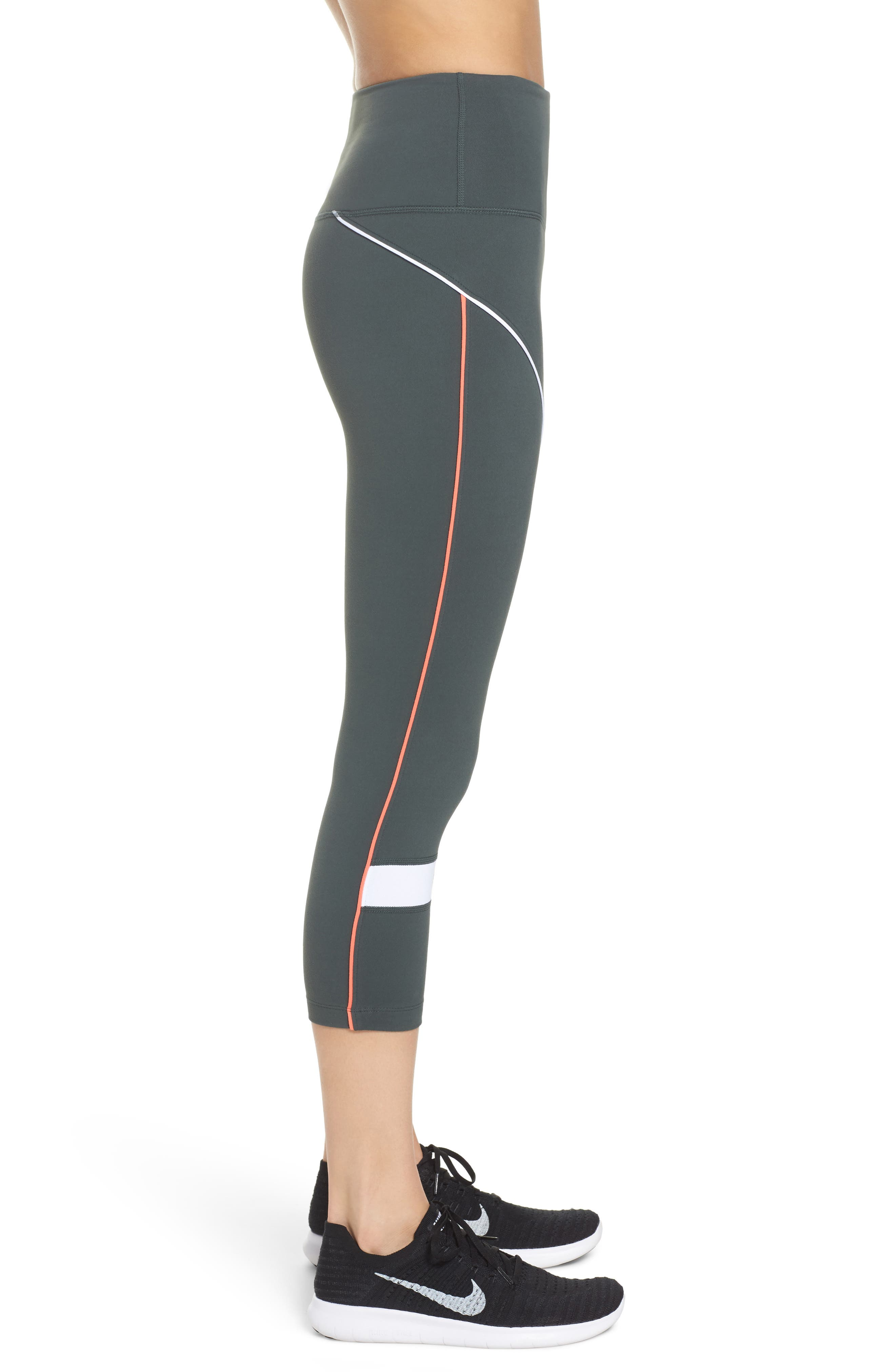 Piper High Waist Crop Leggings,                             Alternate thumbnail 3, color,                             021
